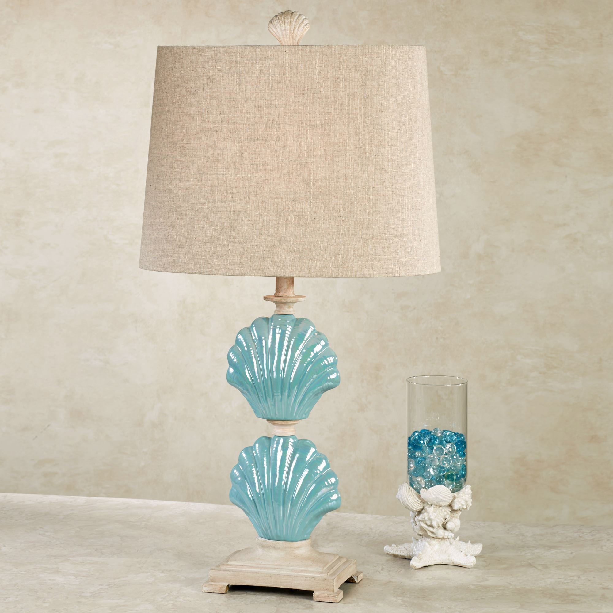 table jrl lamp turquoise multifaceted