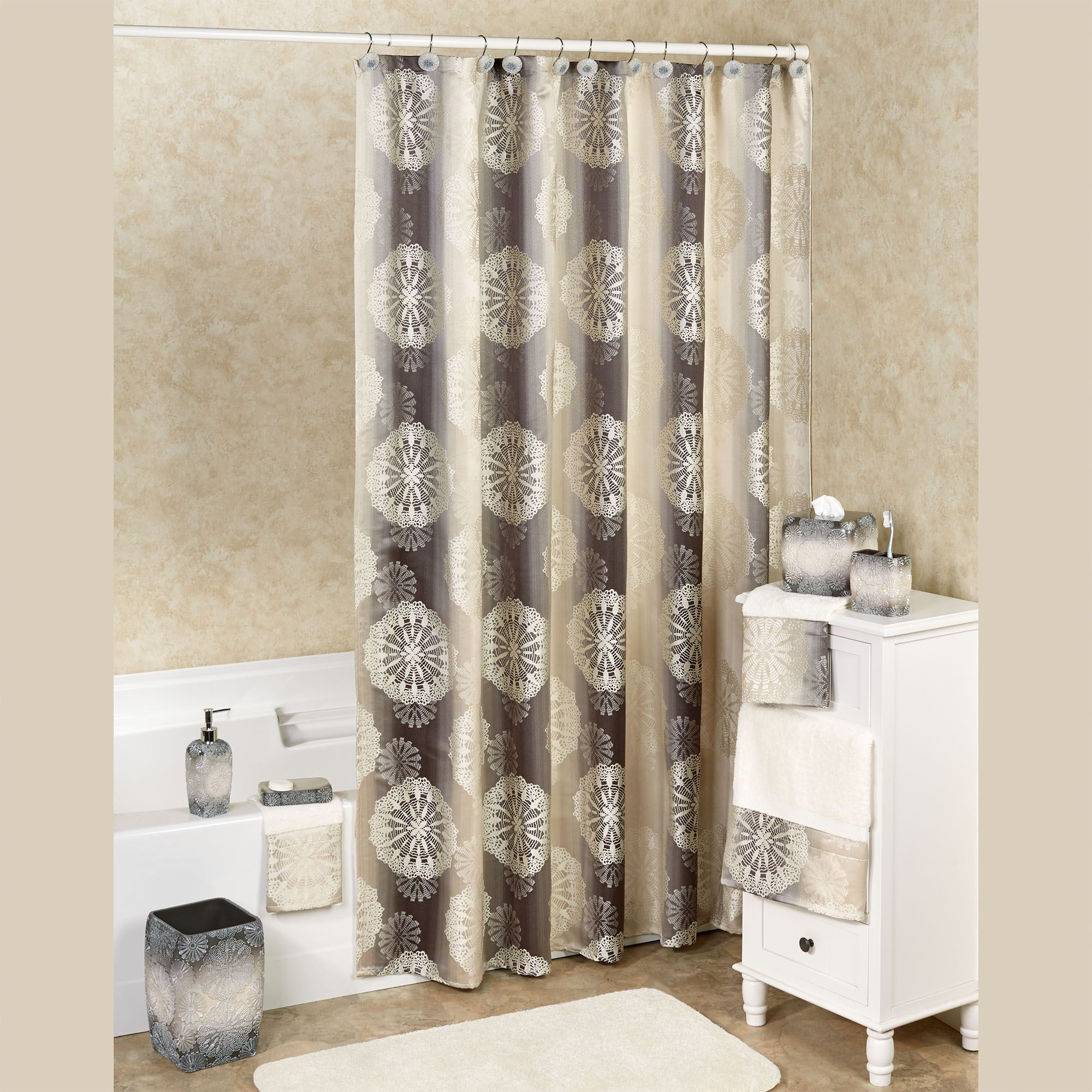 Fallon Shower Curtain Taupe 72 X