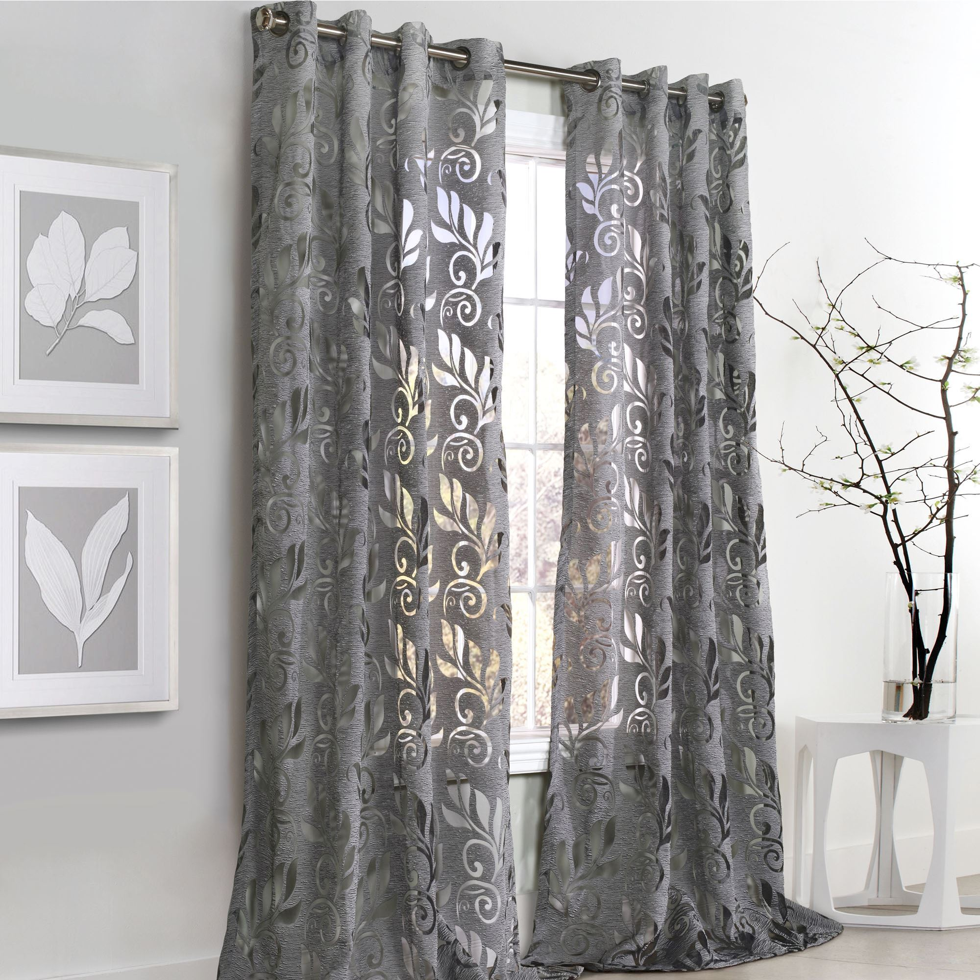 Ordinaire Amelia Grommet Curtain Panel Dark Gray. Touch To Zoom