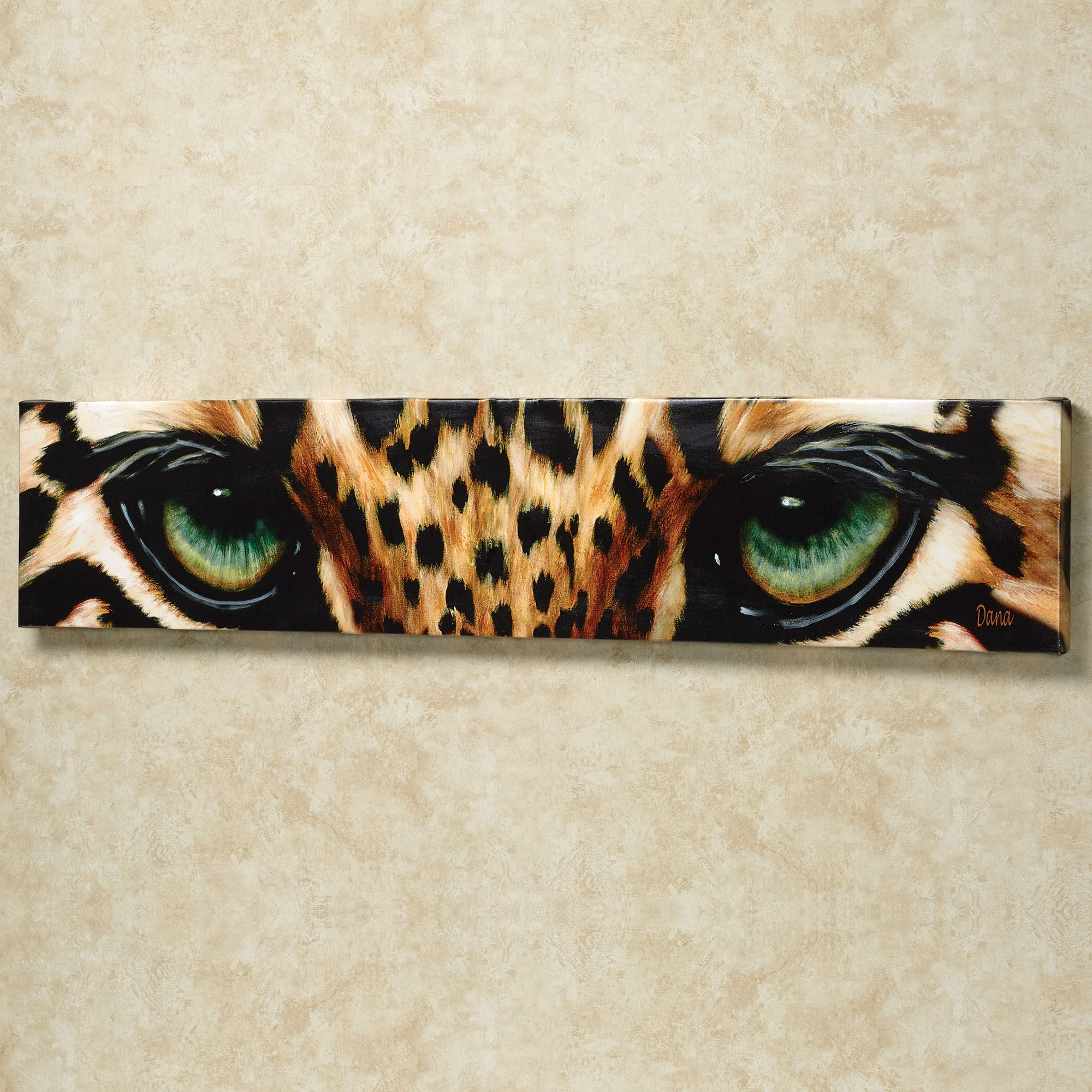 Zebra Print Kitchen Decor: Leopard Eyes Canvas Art