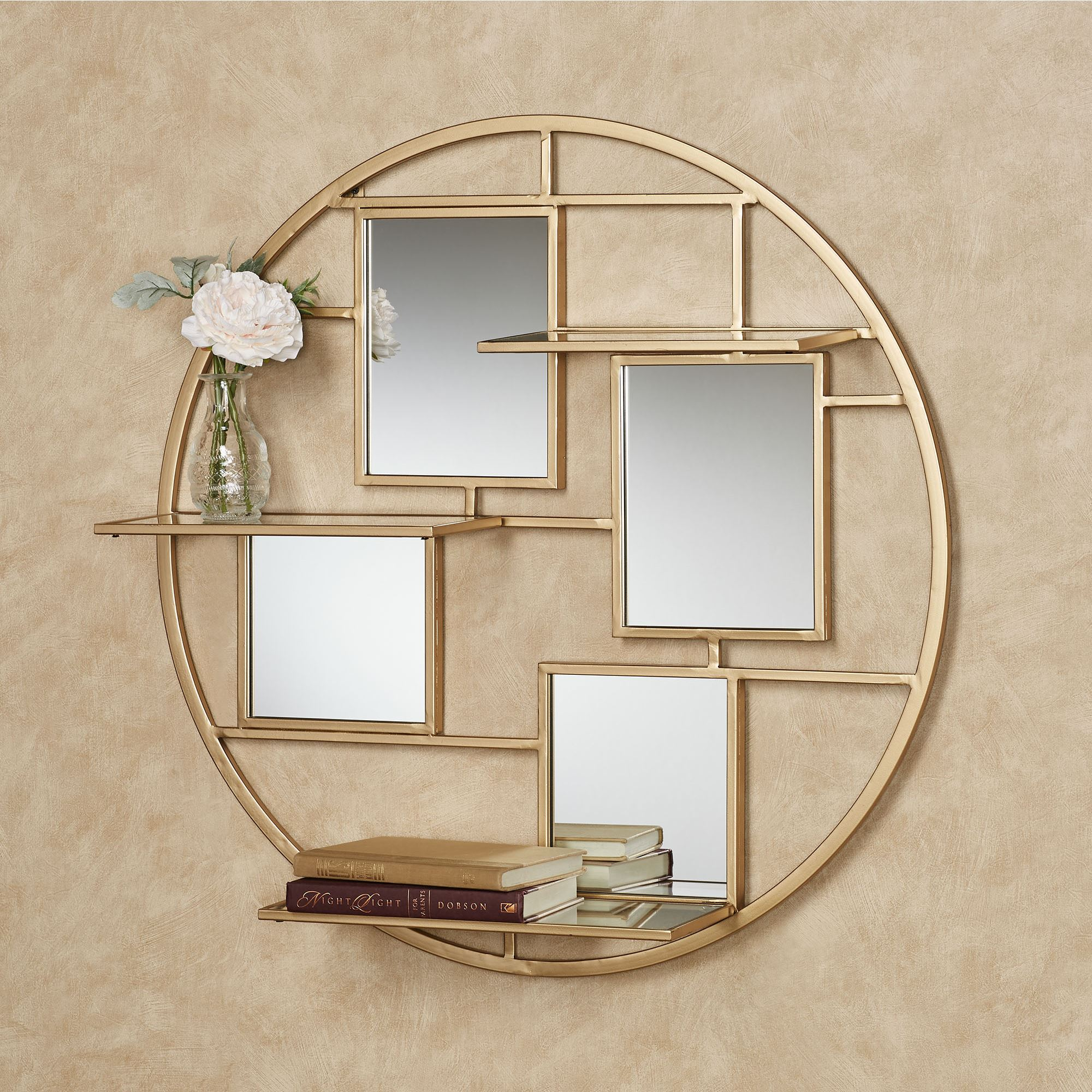 Metal And Mirror Wall Decor from www.touchofclass.com