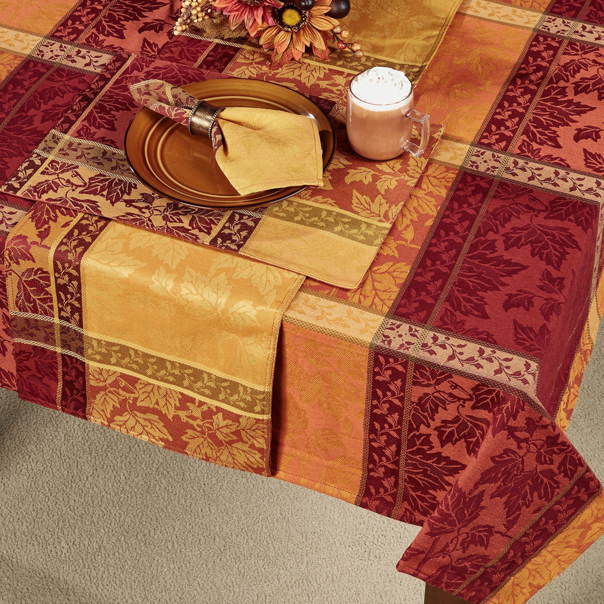 Montvale Jacquard Woven Autumn Table Linens