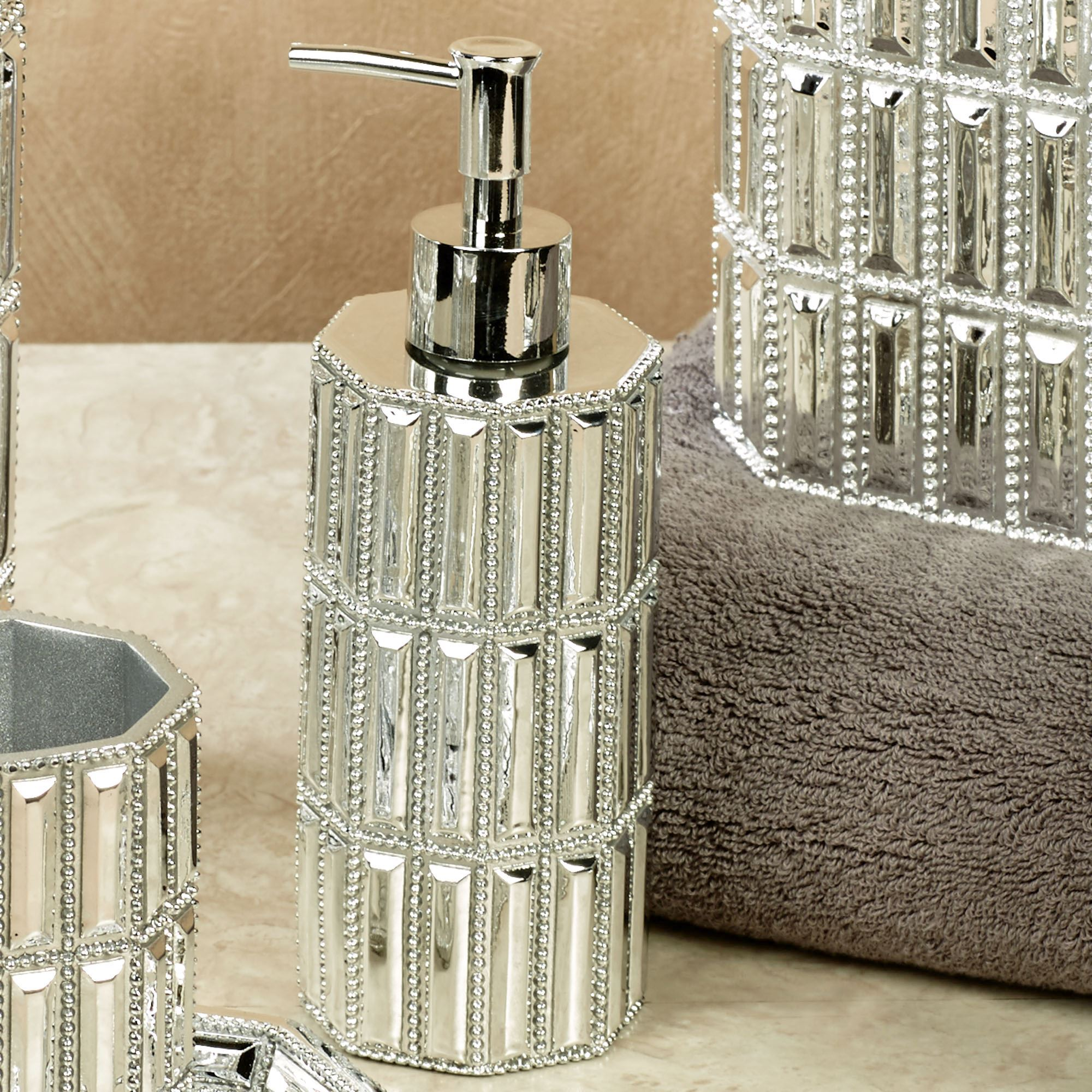 Glitz Silver Lotion Soap Dispenser