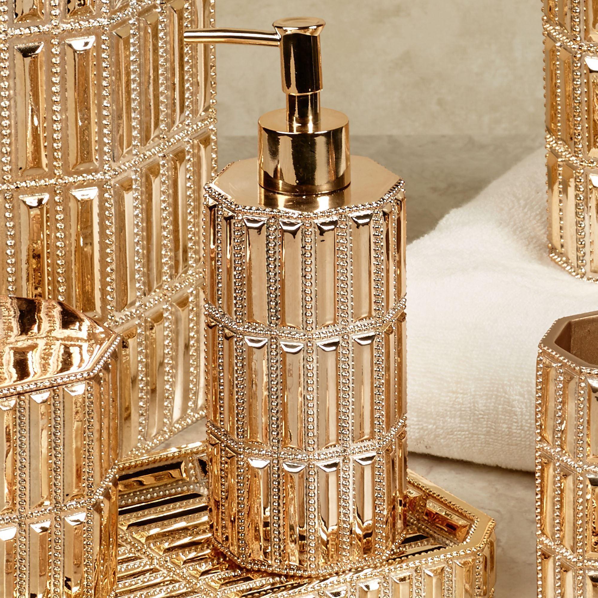 Glitz Gold Bath Accessories