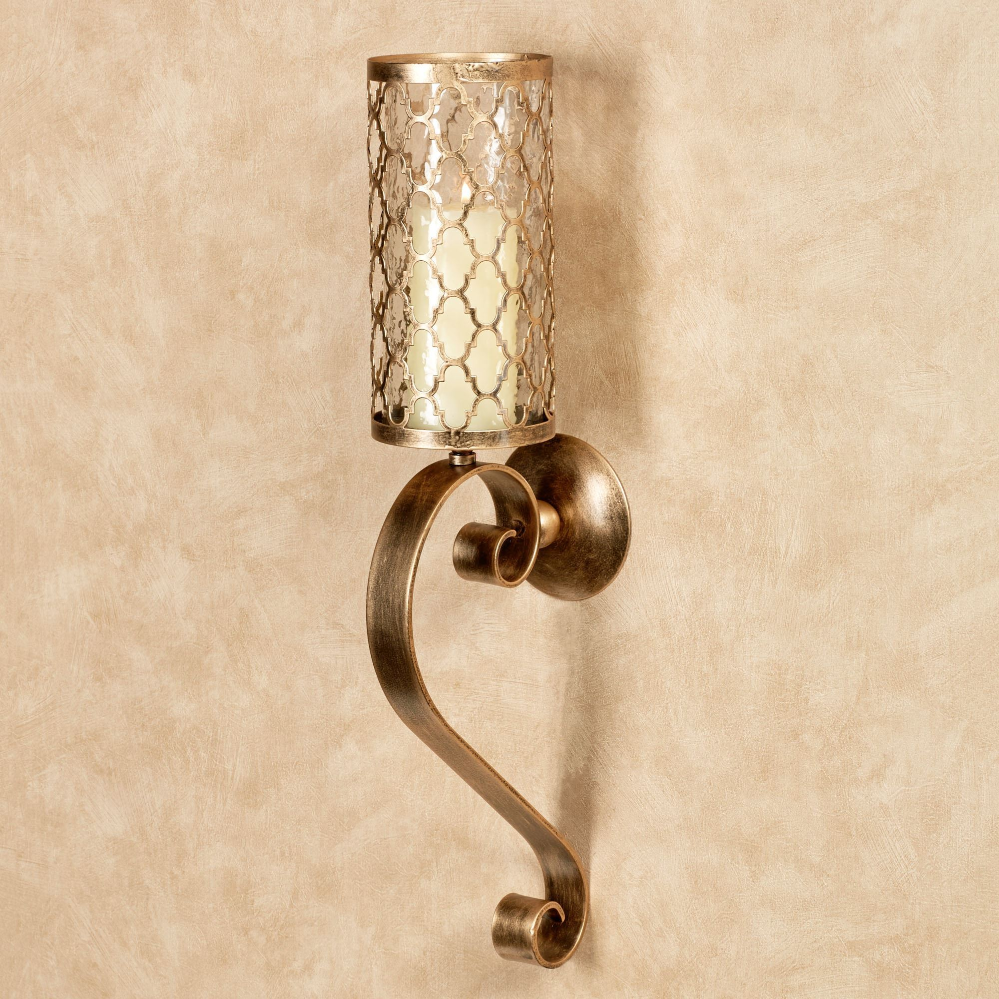 with silk arm new ornate itm antique lights shades light af lighting bronze sconce wall