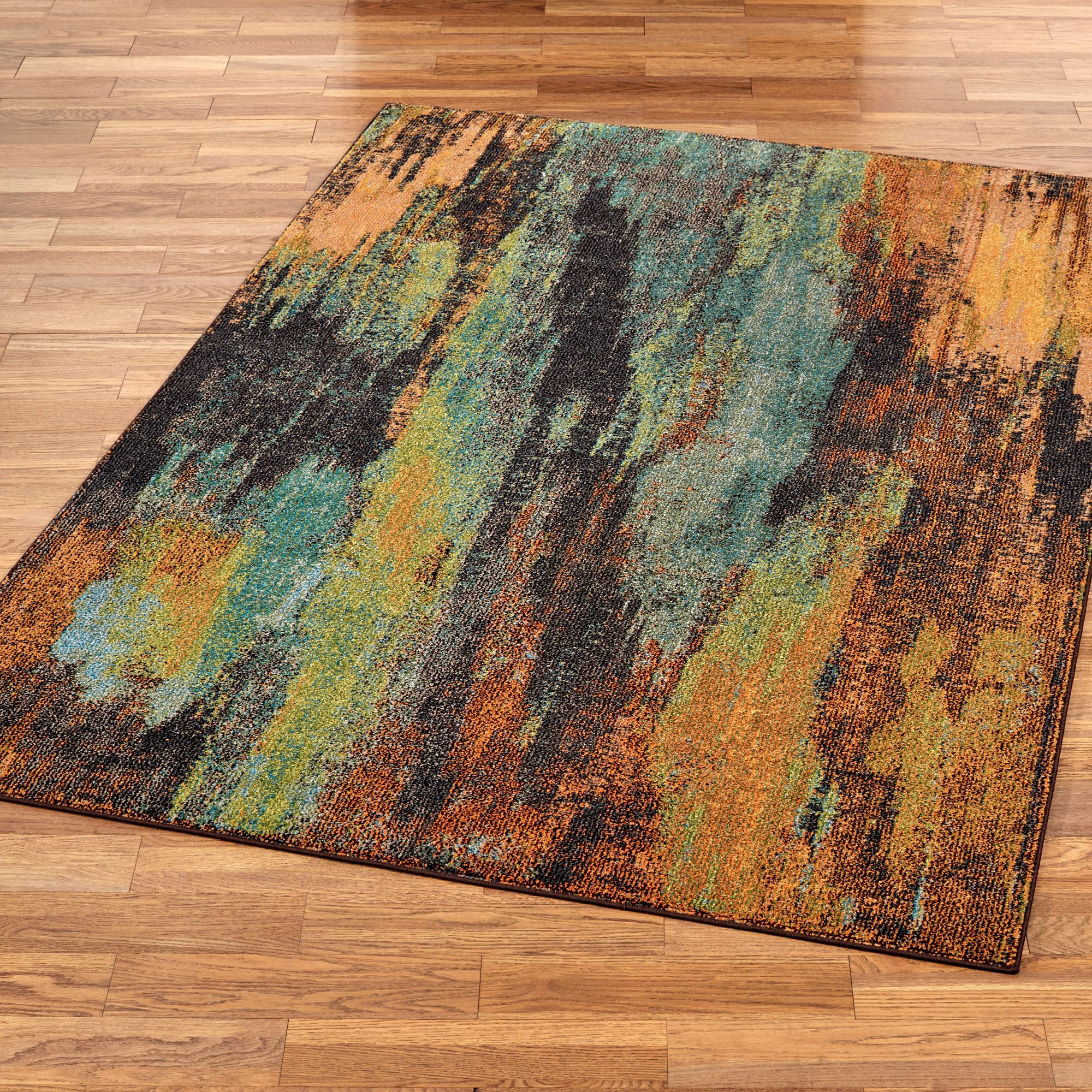 Oxidation multicolored abstract area rugs for Area carpets and rugs