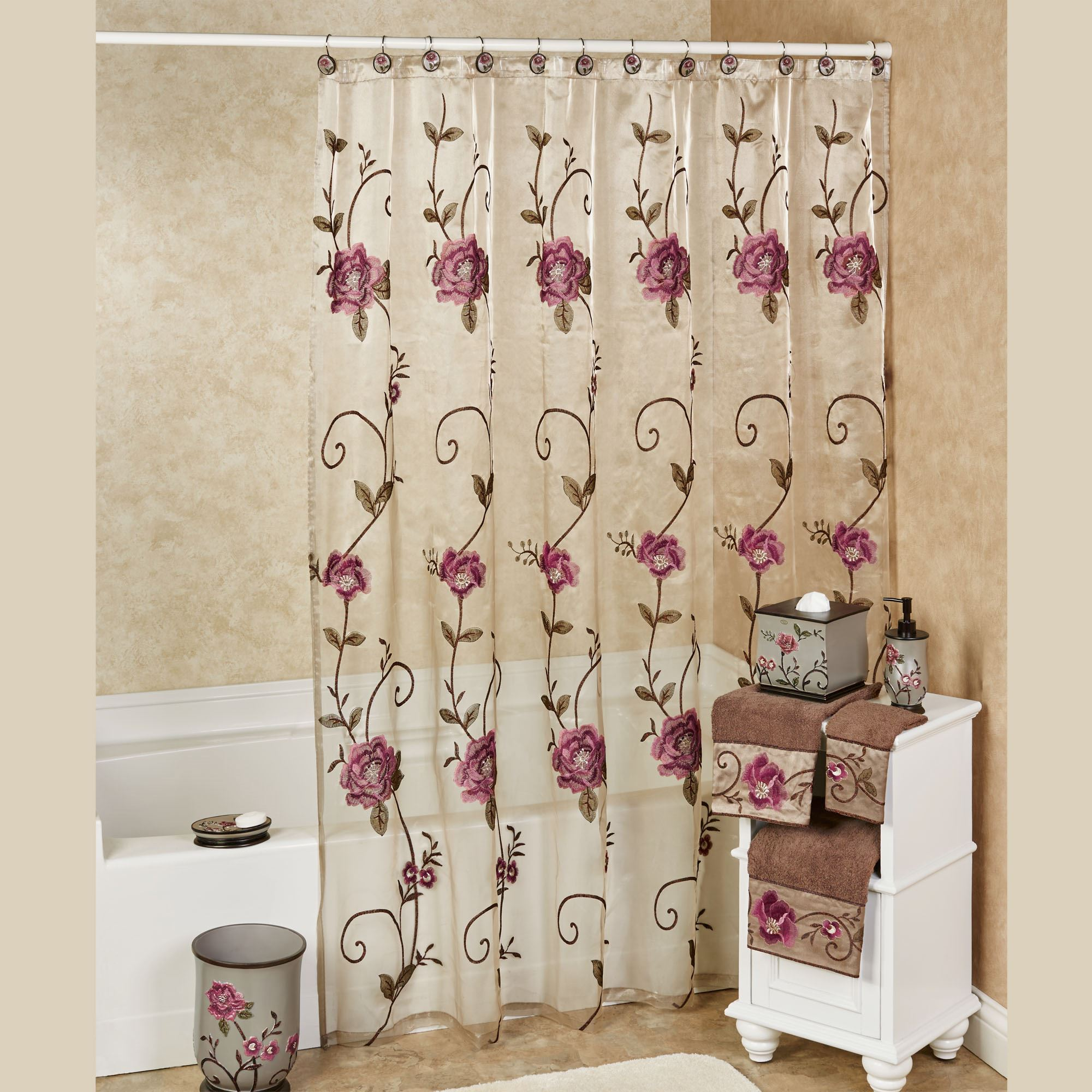 curtains v with x fiore p curtain liner light taupe shower