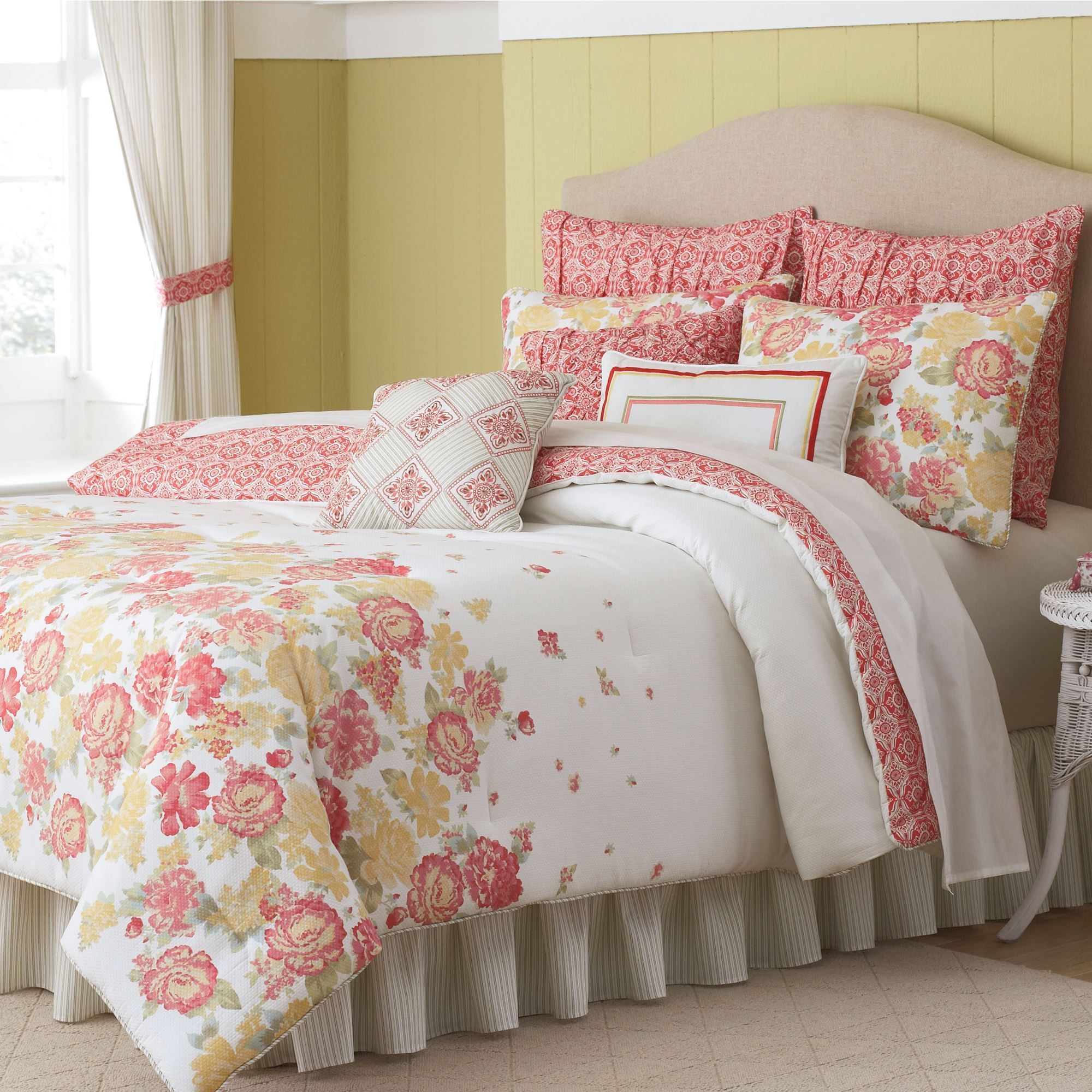and bedding bamboo aqua design fleur mustard in floral yellow dahlia selling on or best comforter blue duvet gray flower products