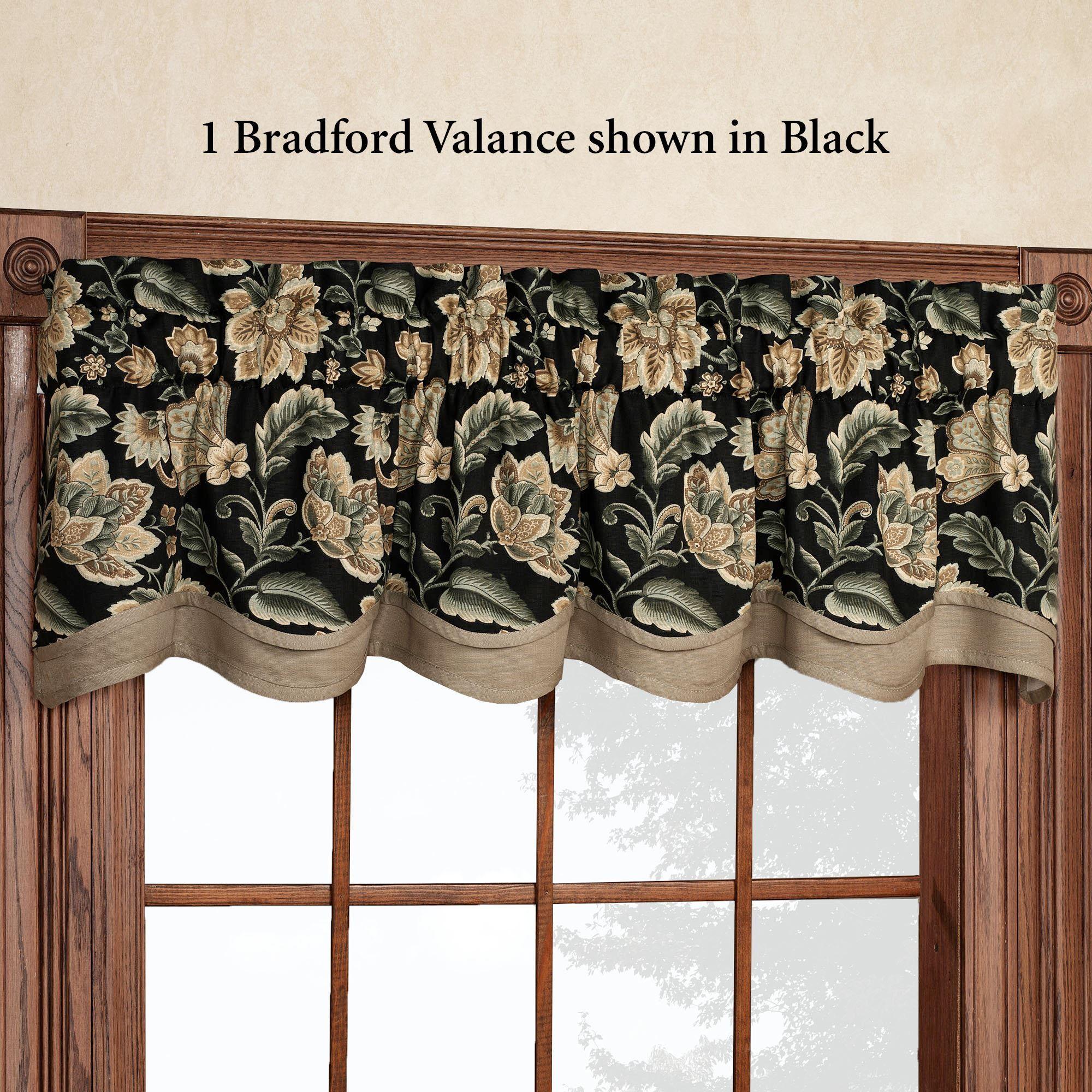 Valerie Jacobean Floral Tier Window Treatment