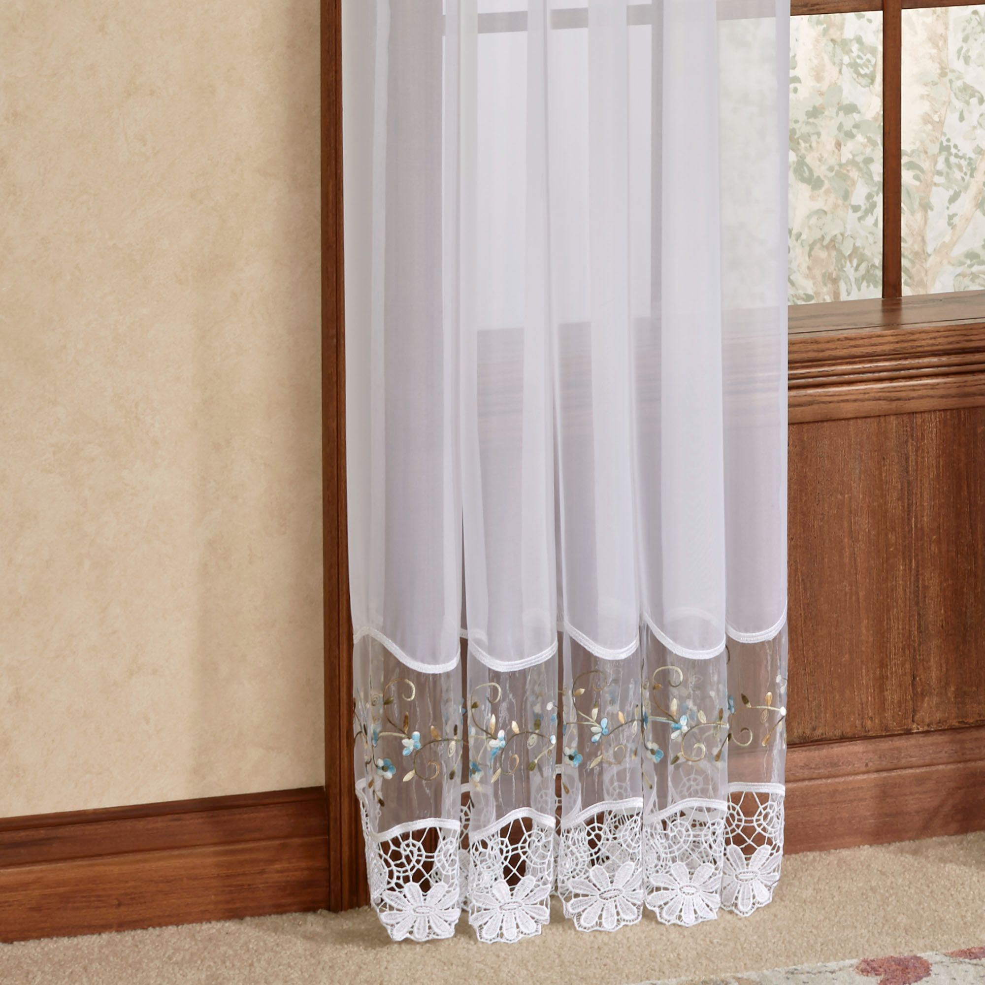 Embroidered Curtain Panel Home Ideas