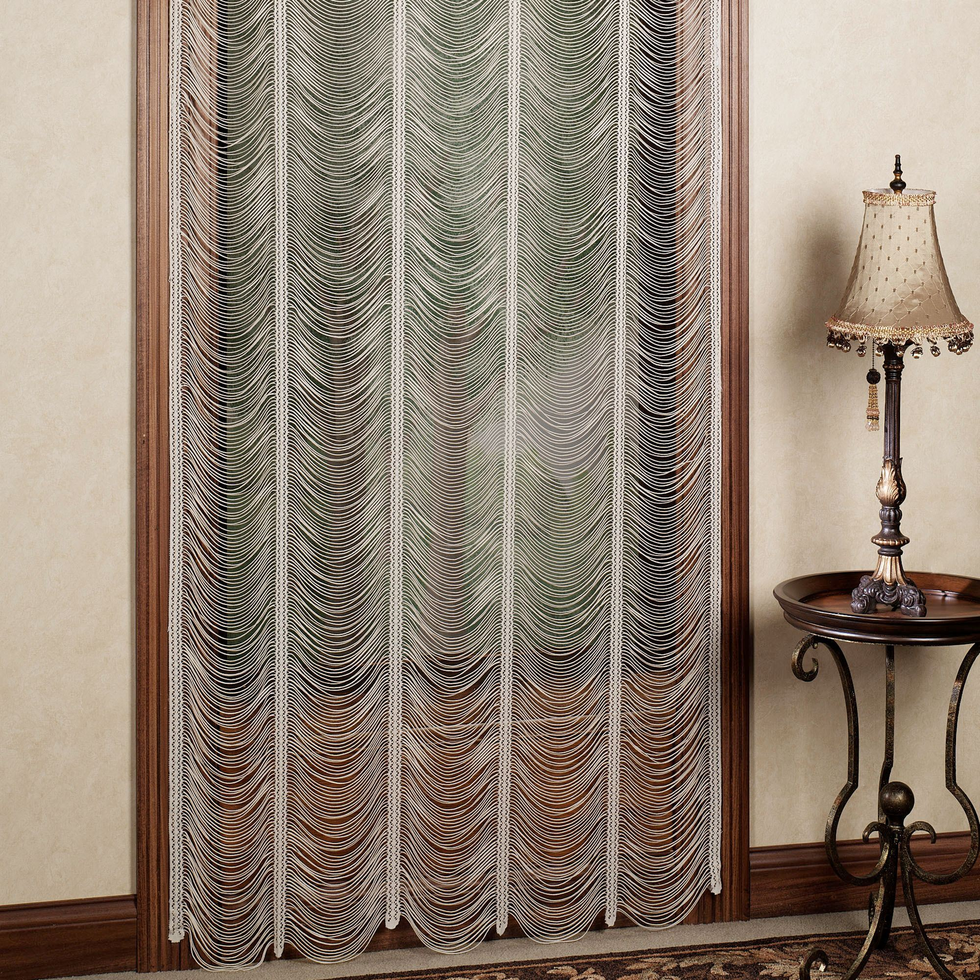 Sorrento Ii Ivory String Lace Curtain Panel