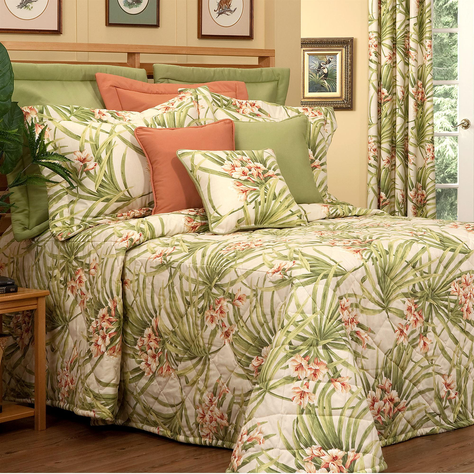 Katia Quilted Tropical Bedspread Bedding