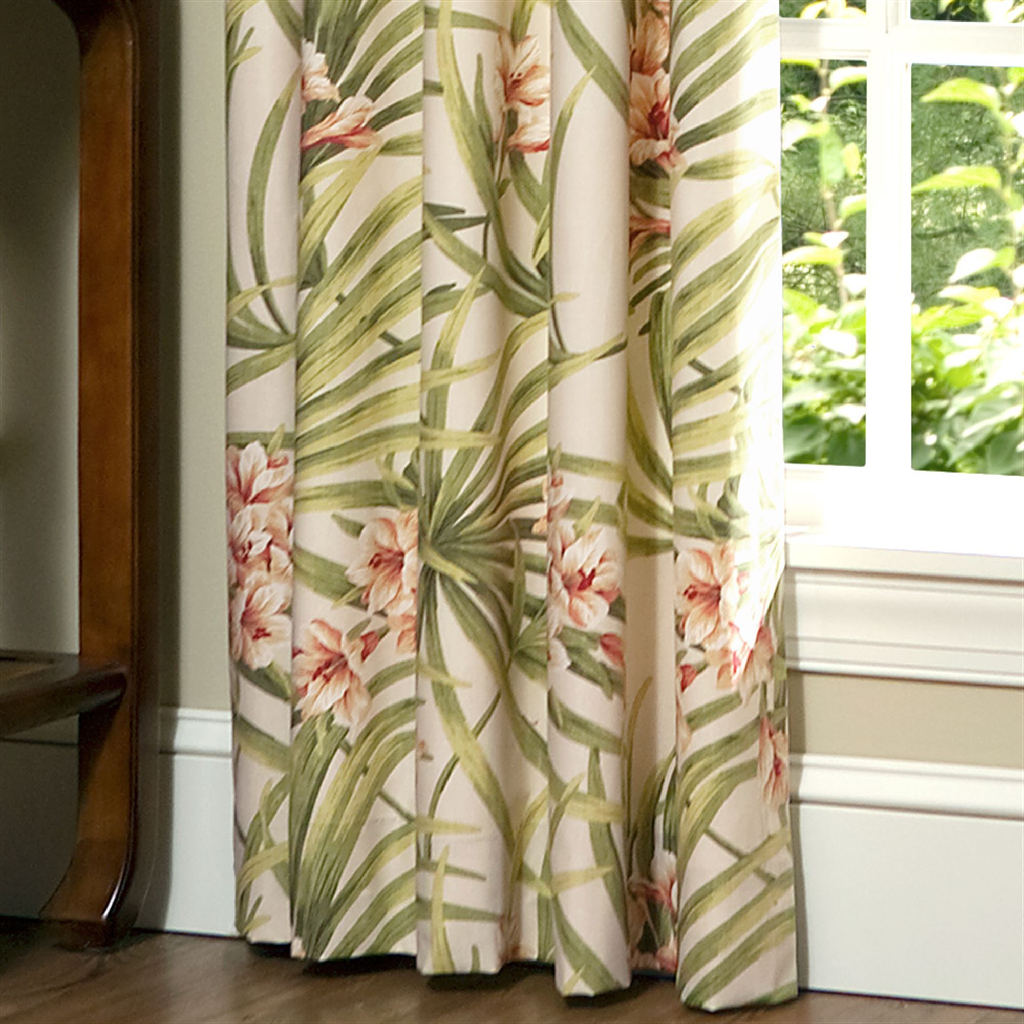 geish palm colour my monro s in trees jean home parrots part tropical geisha carnival fabric curtains of curtain