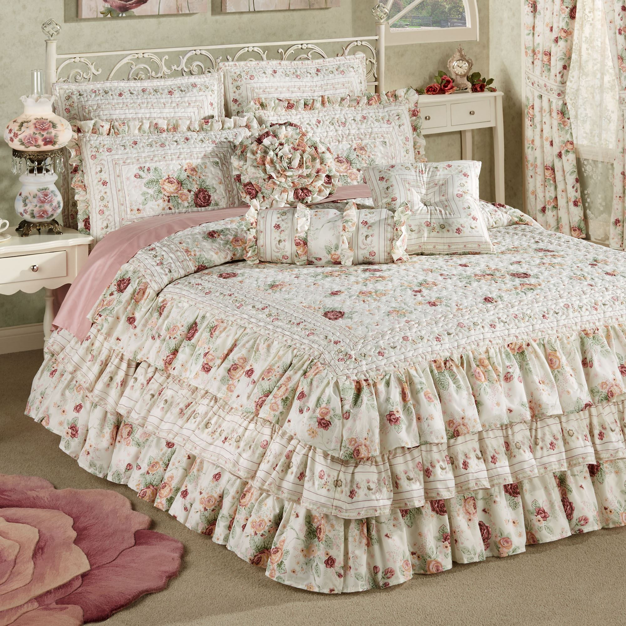reversible dusty textured homes piece ip floral better com s sham rose comforter set walmart kids included and gardens