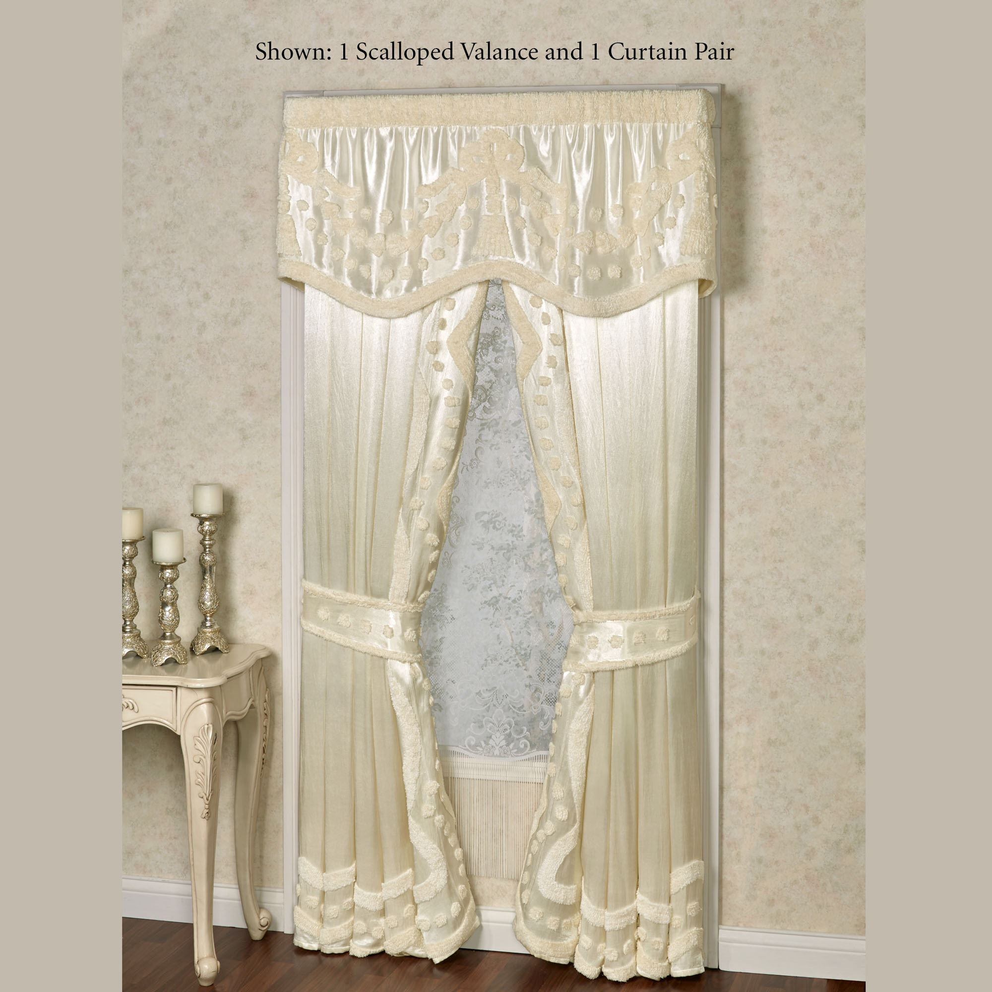 design ivory valance p croscill to consign