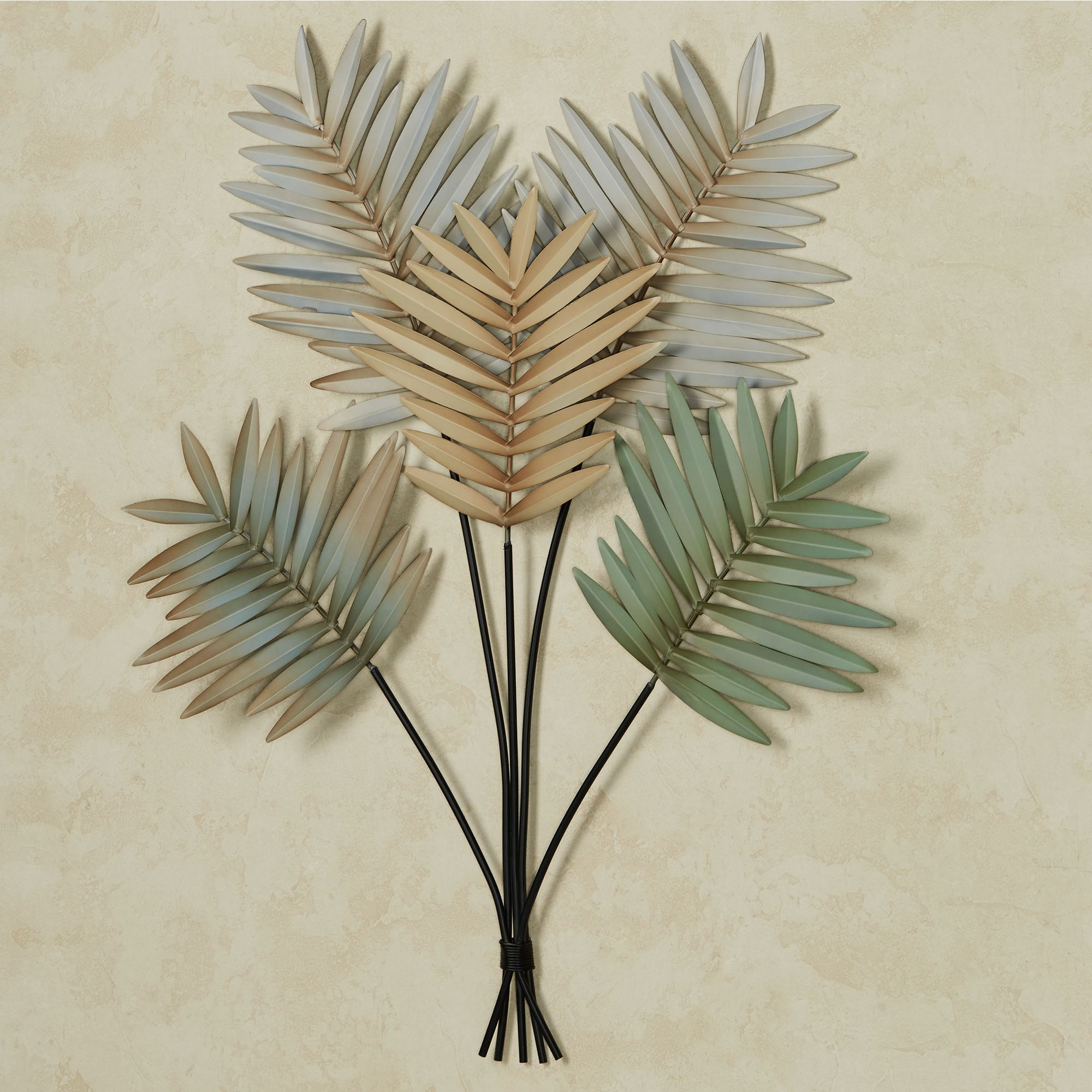 Palm Leaf Arrangement Tropical Metal Wall Art