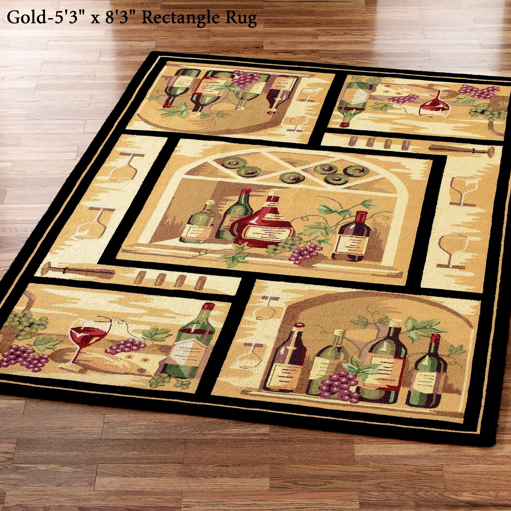 Wine Bottle Area Rug