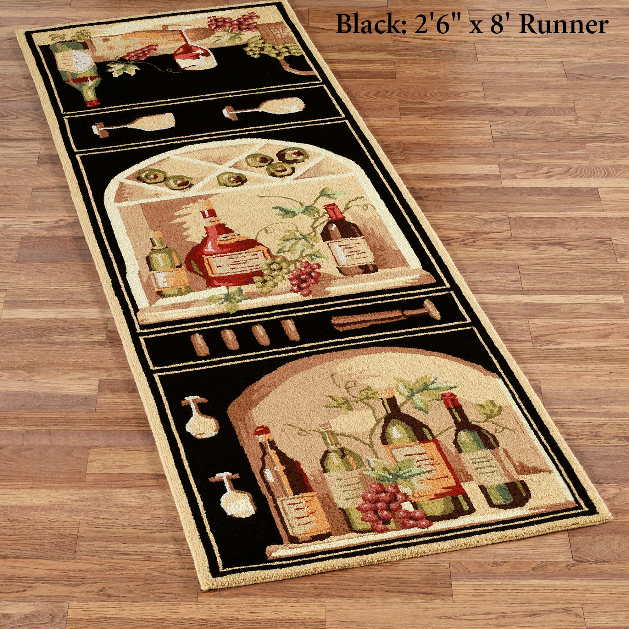 Wine Bottle Rug Runner