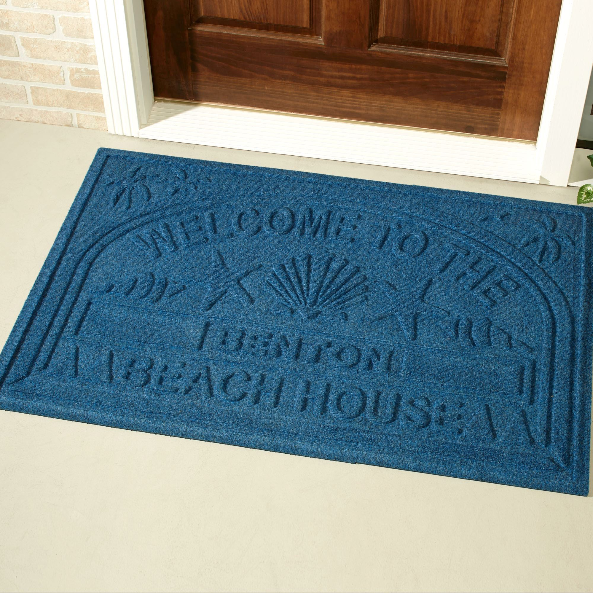 Welcome Beach Oversized Personalized Doormat