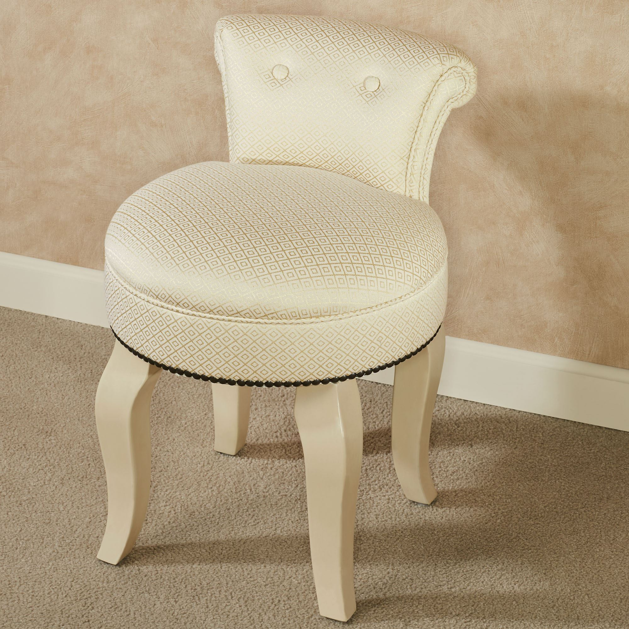 Tremendous Saraphina Upholstered Vanity Chair With Ivory Legs Machost Co Dining Chair Design Ideas Machostcouk