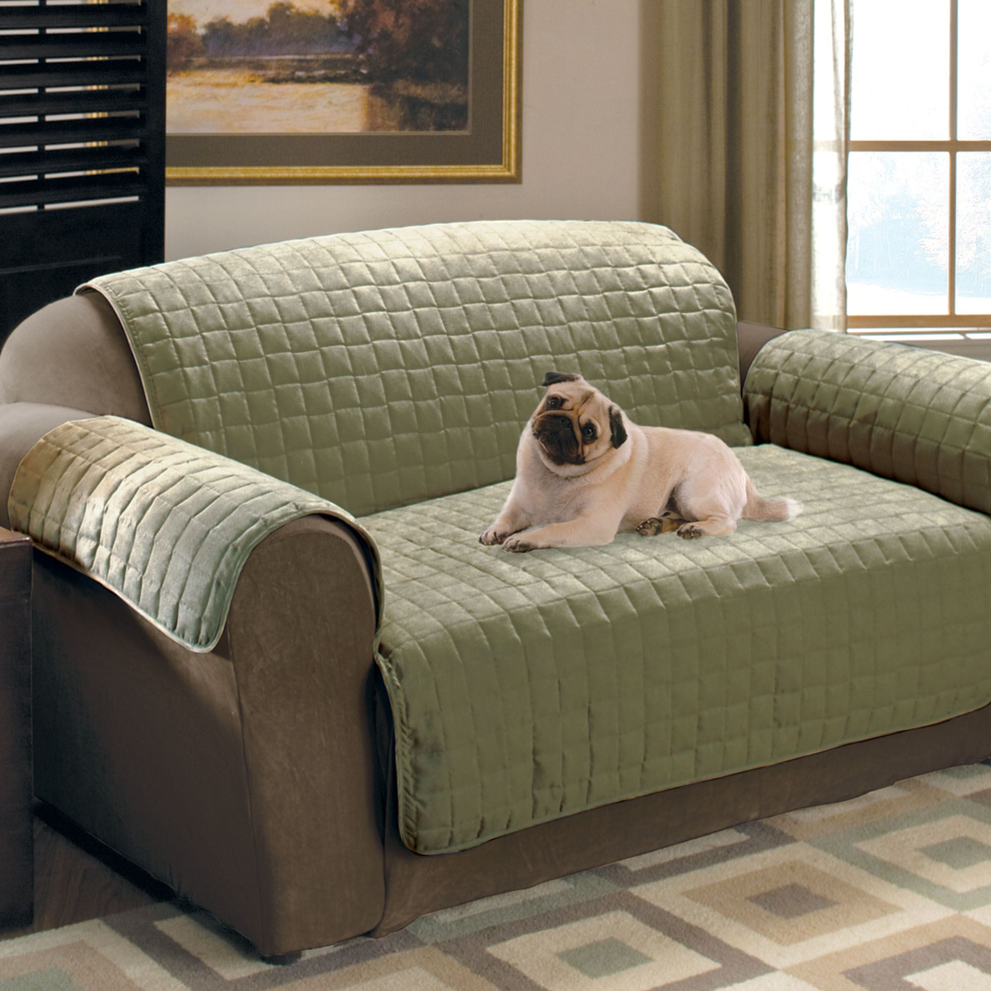 Faux Suede Pet Furniture Covers