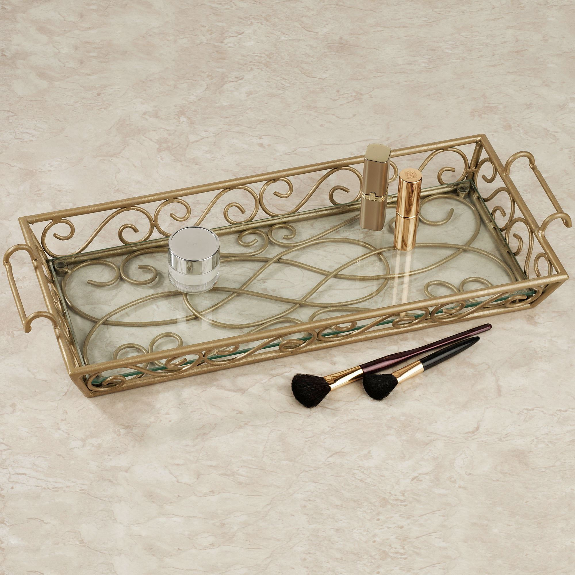 Gianna vanity tray for Bathroom tray