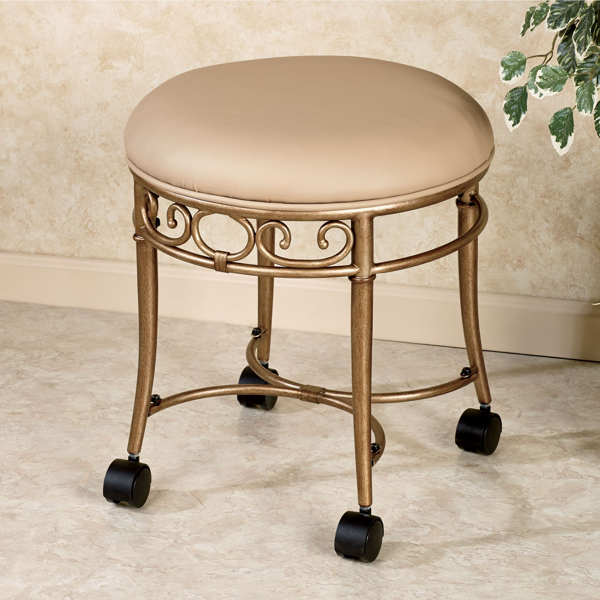 Touch To Zoom Mcclare Vanity Stool