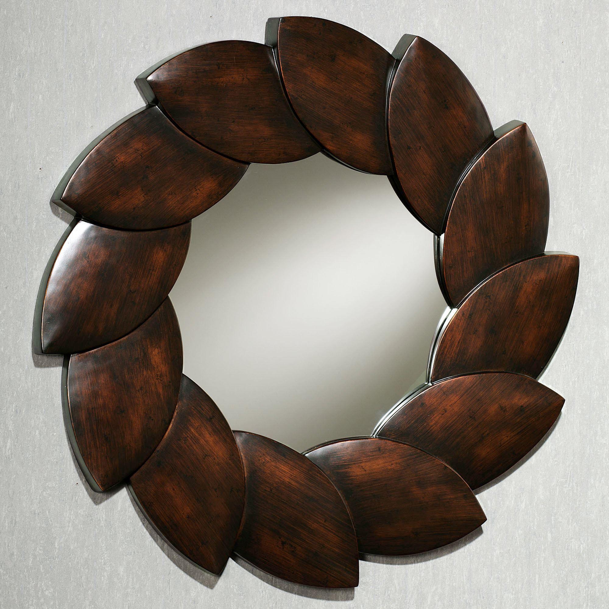 Ovalis Leaf Wall Mirror