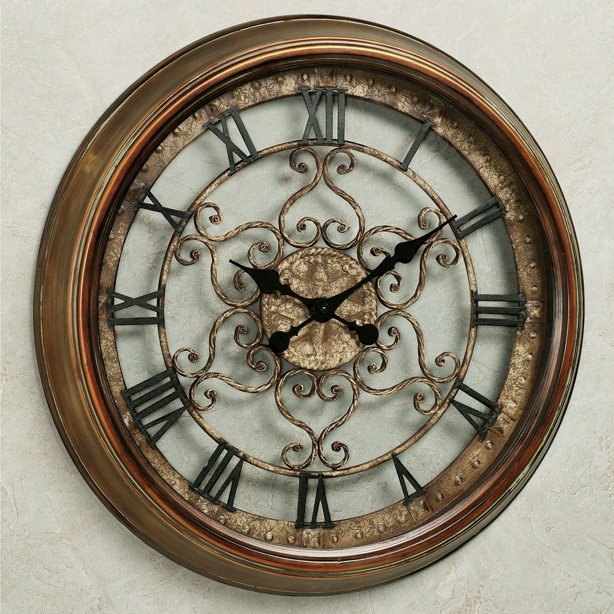 Norton wall clock norton wall clock antique bronze click to expand amipublicfo Choice Image