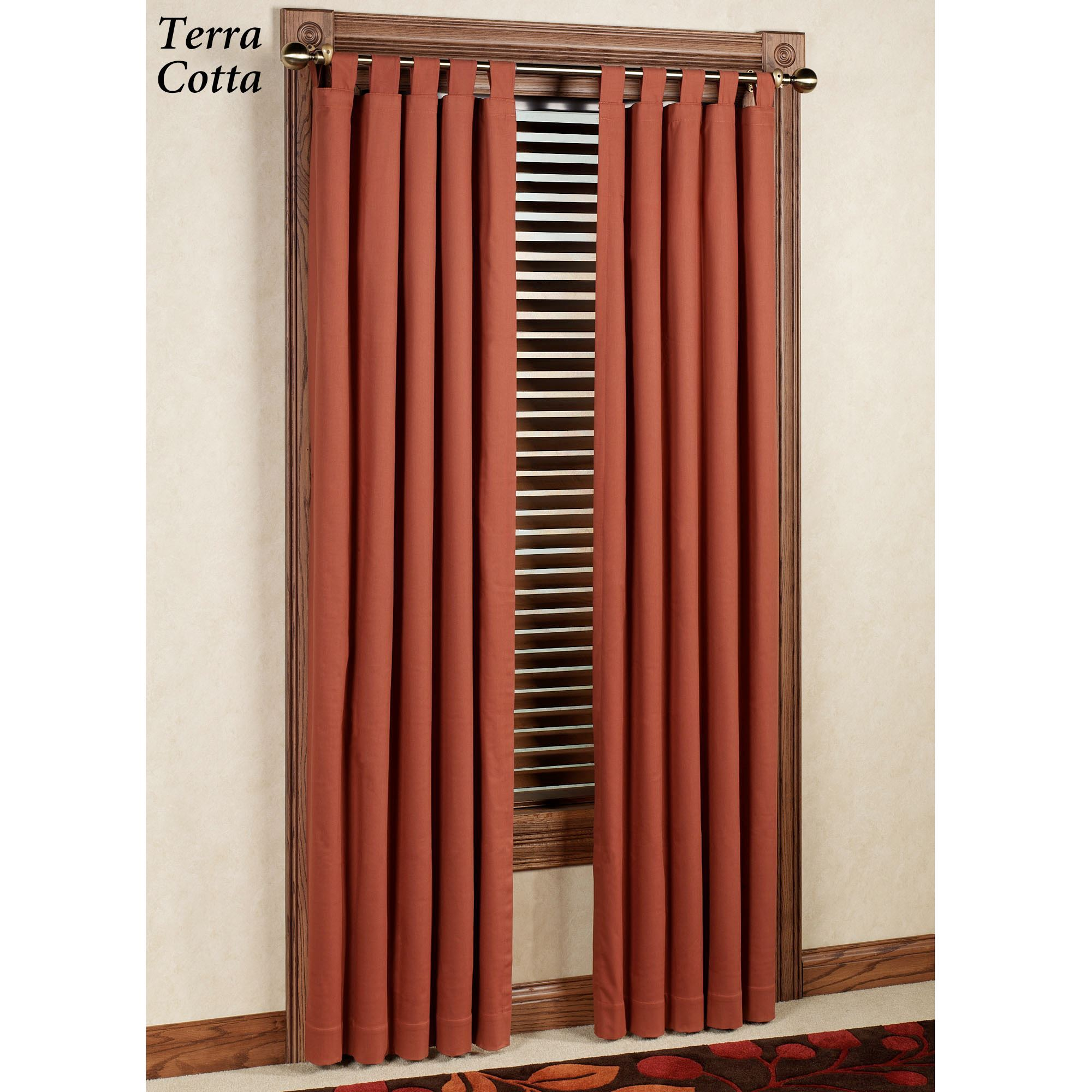 Weathermate Solid Thermalogic Tm Tab Top Curtains