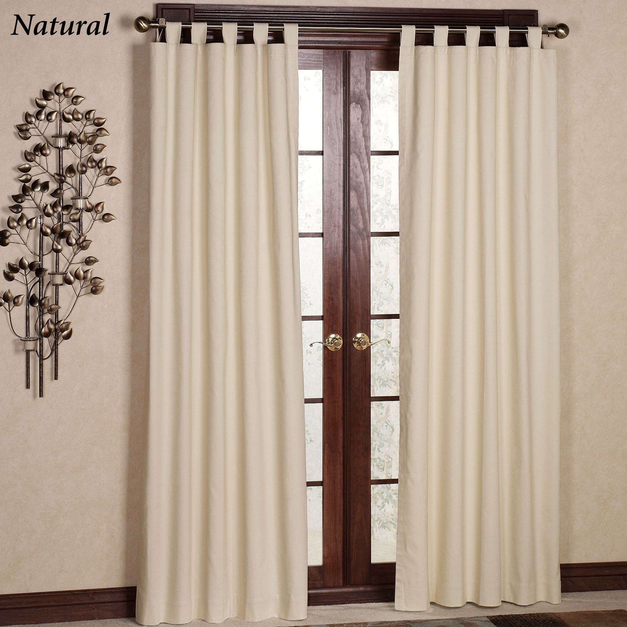 Weathermate Solid Thermalogic(TM) Tab Top Curtains