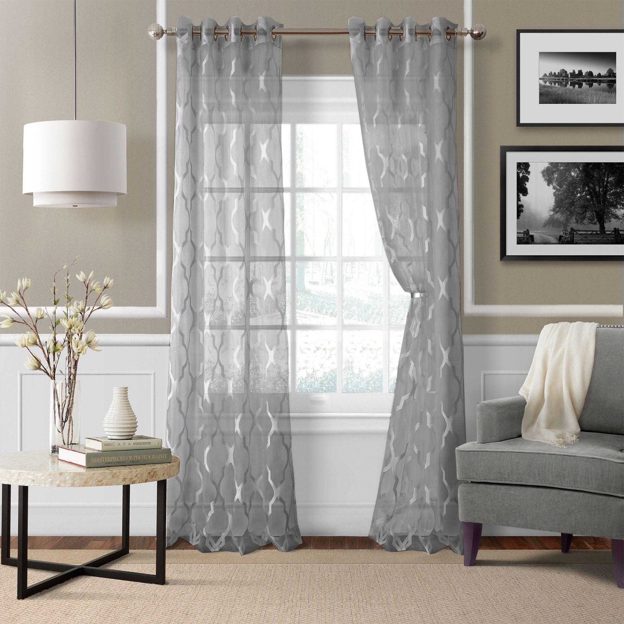 Sonata Sheer Grommet Curtain Panels