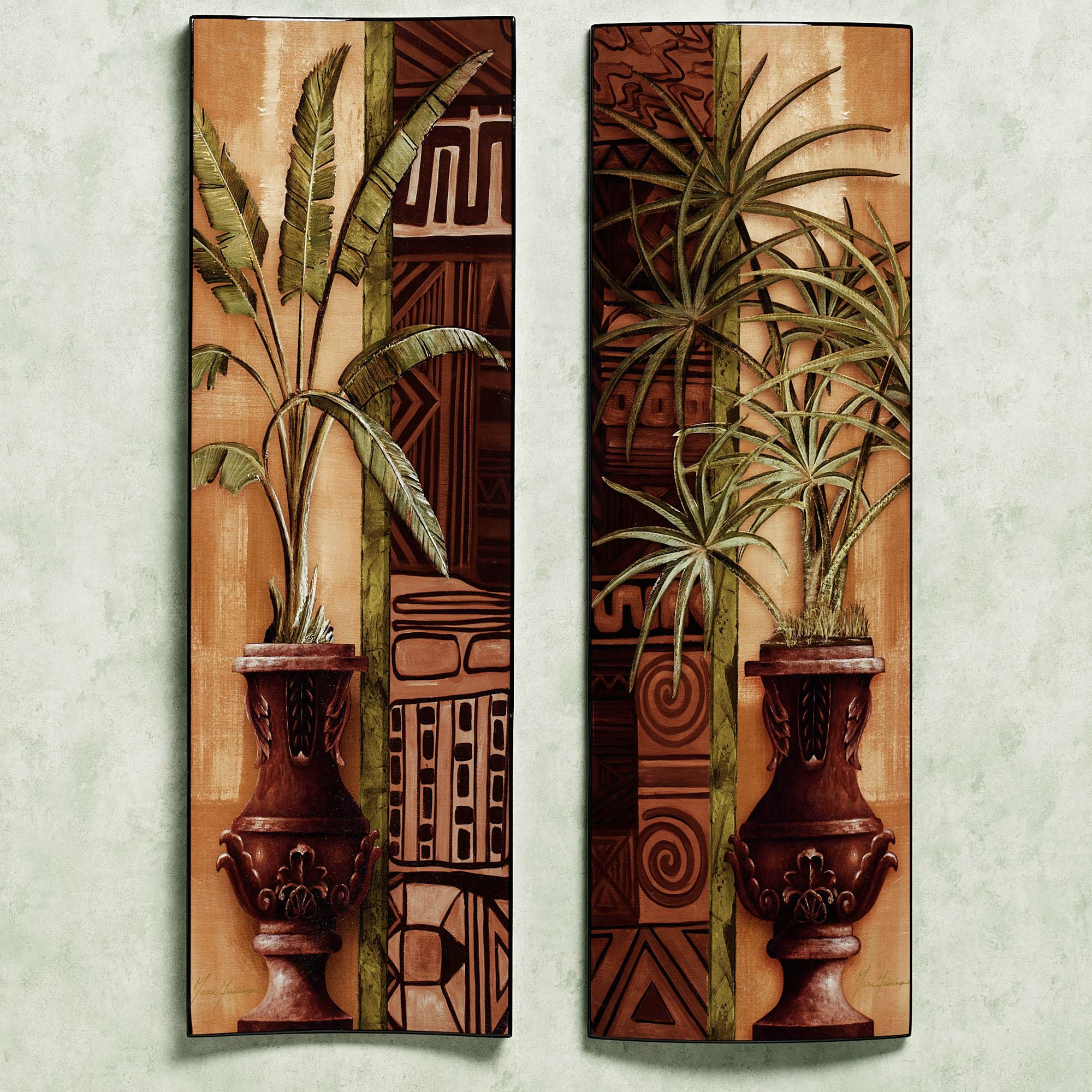 Bon Tropical Palms Wall Panel. Click To Expand