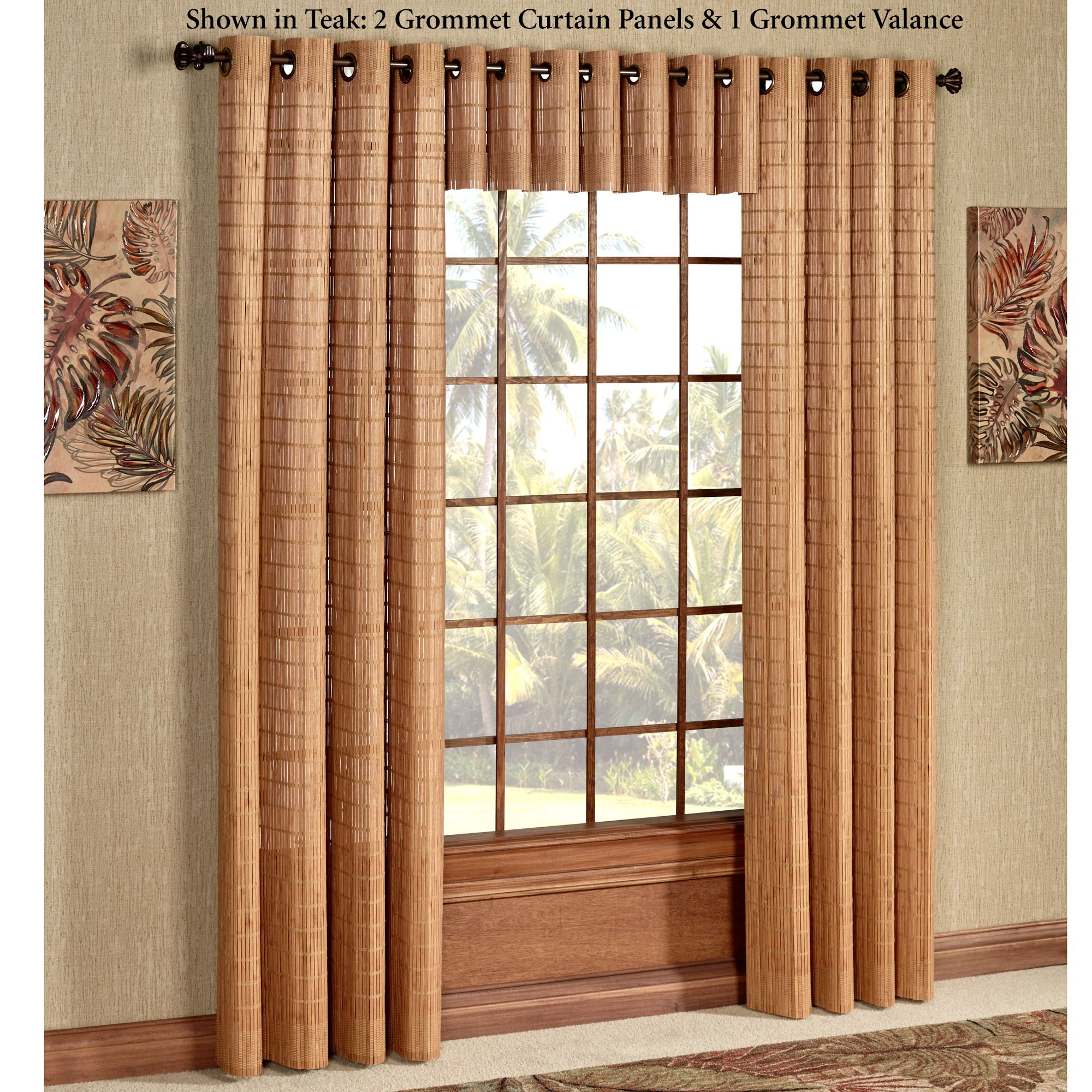 Bamboo Grommet Curtain Panel