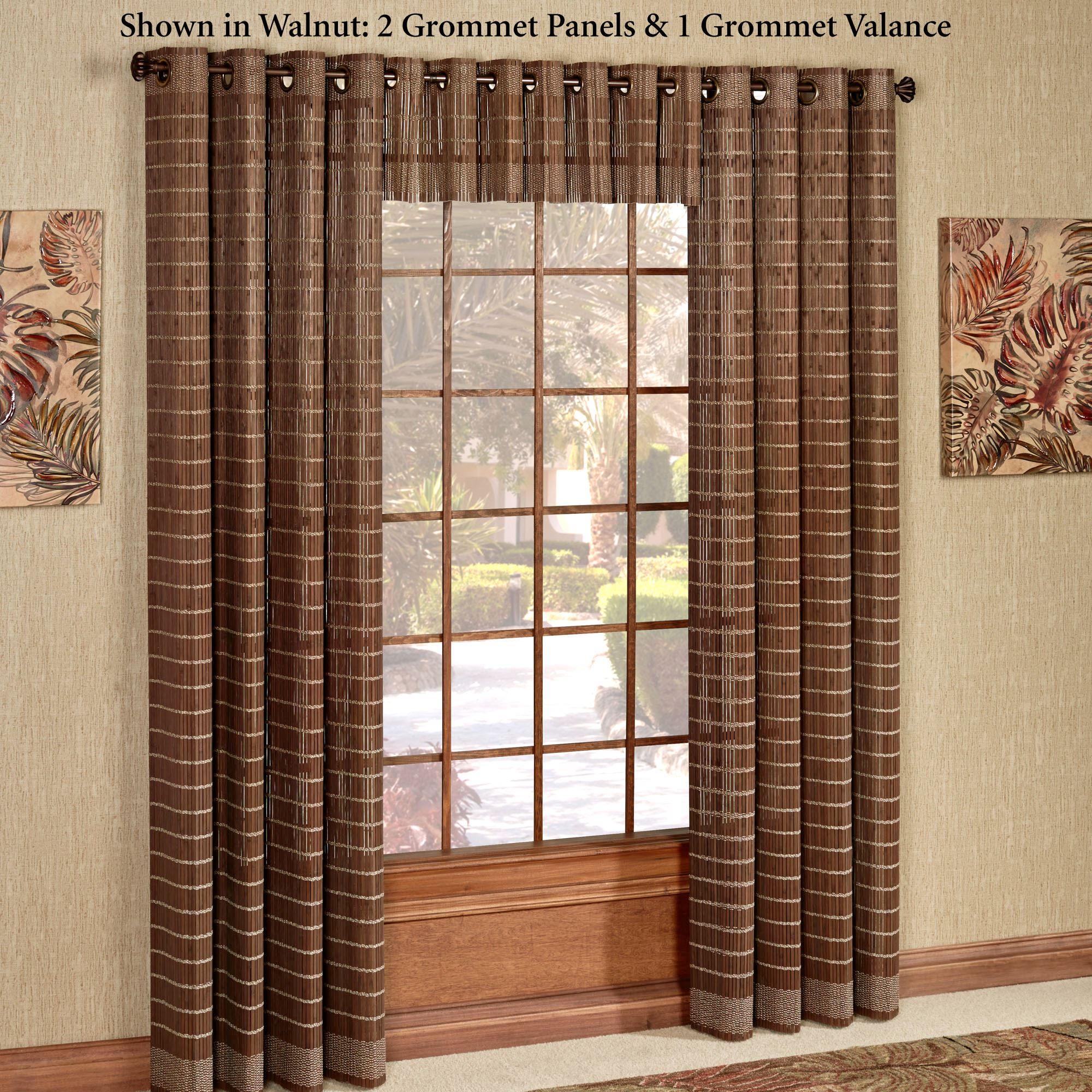 Bamboo Grommet Curtain Panel