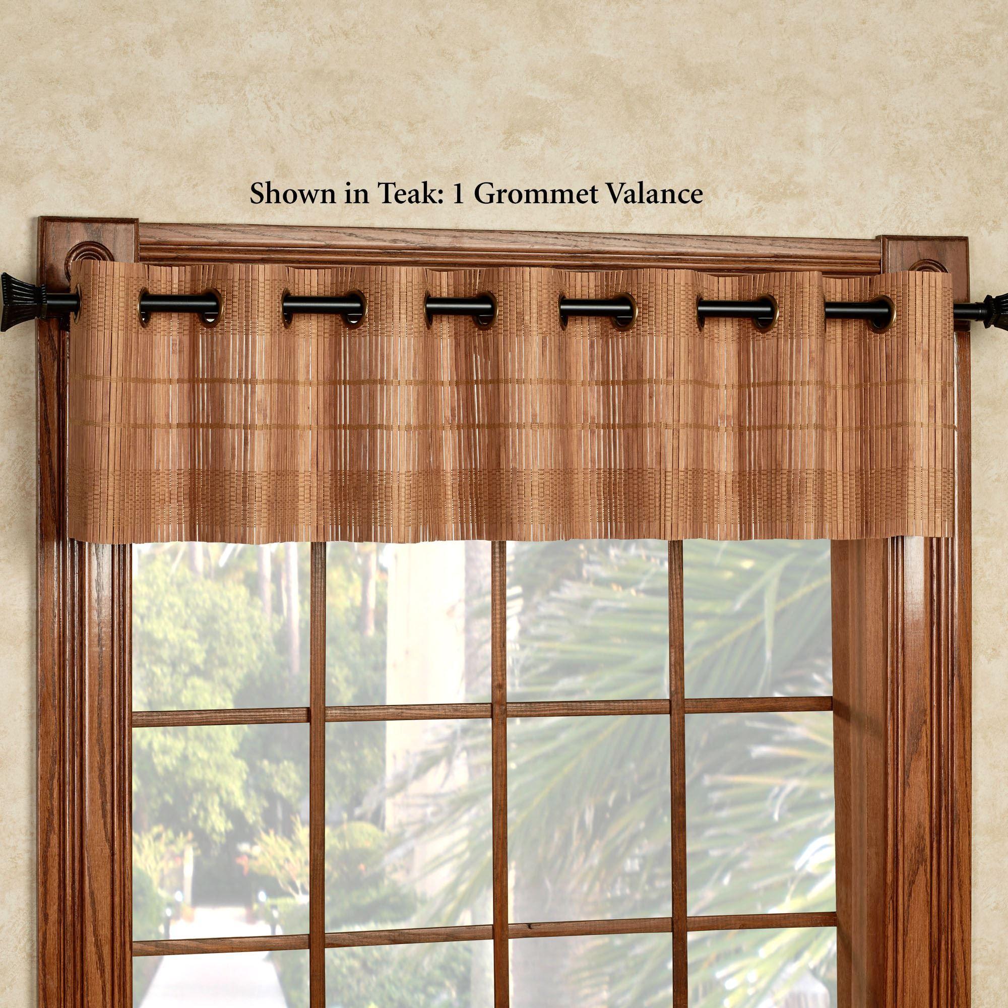 Bamboo Light Filtering Grommet Panel