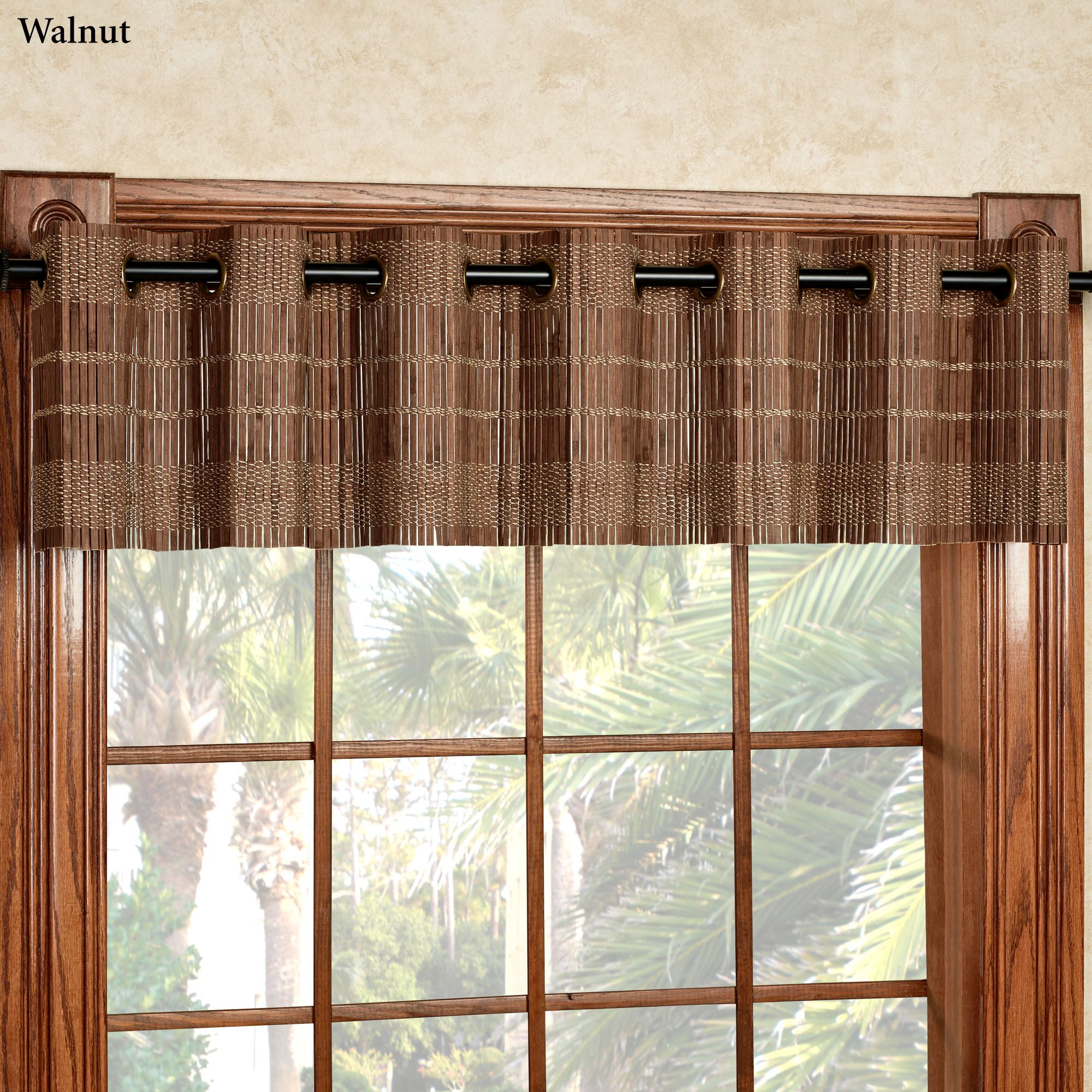 Bamboo Light Filtering Grommet Window Treatment