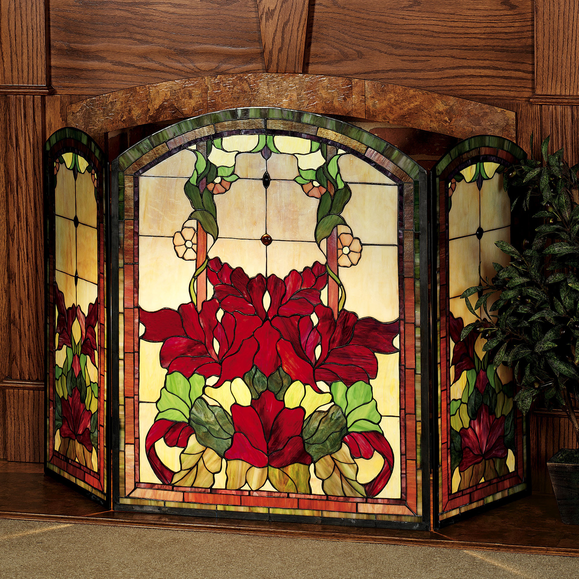 stained example glass store rumford doors fireplace on screen