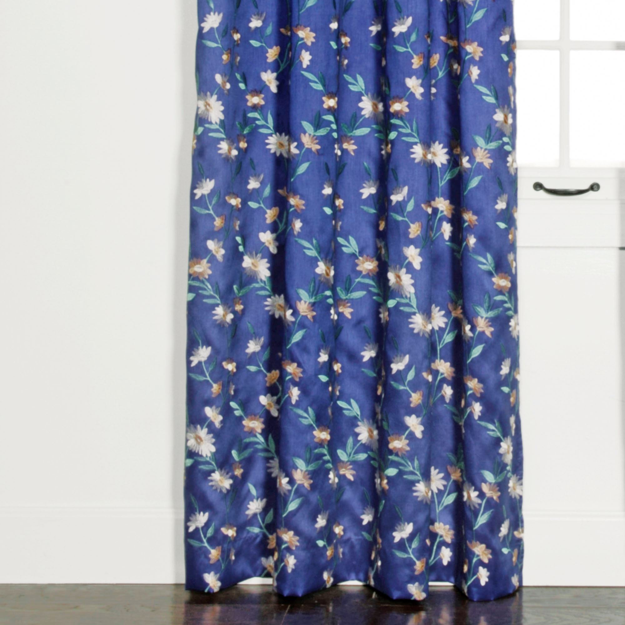 Wisteria Grommet Curtain Panel Blue 54 X 84