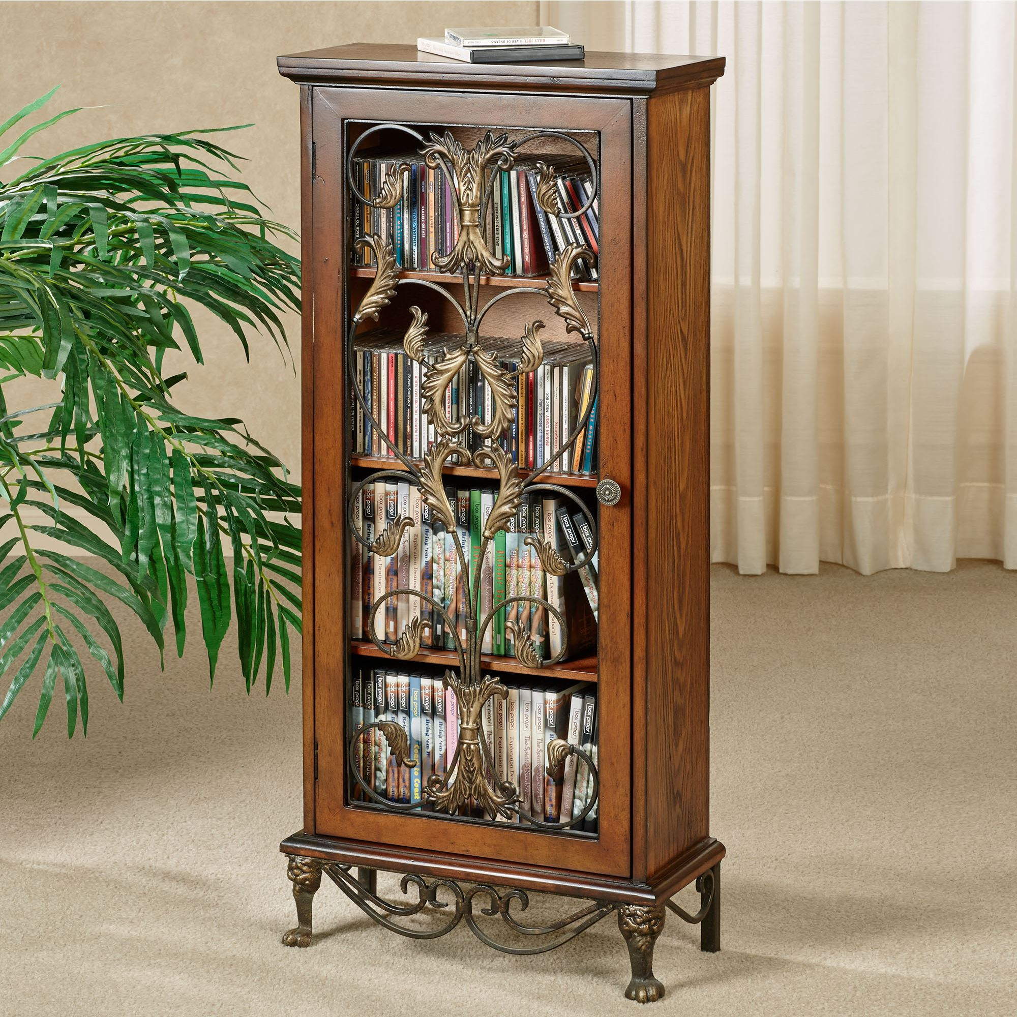 Caydena Dvd And Cd Storage Cabinet