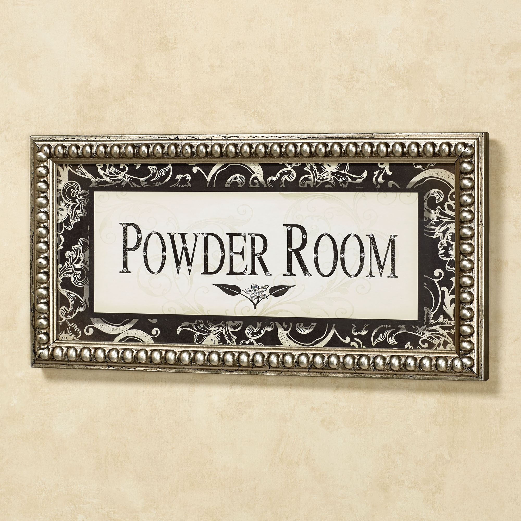 Powder Room Framed Wall Art Ivory Black Click To Expand