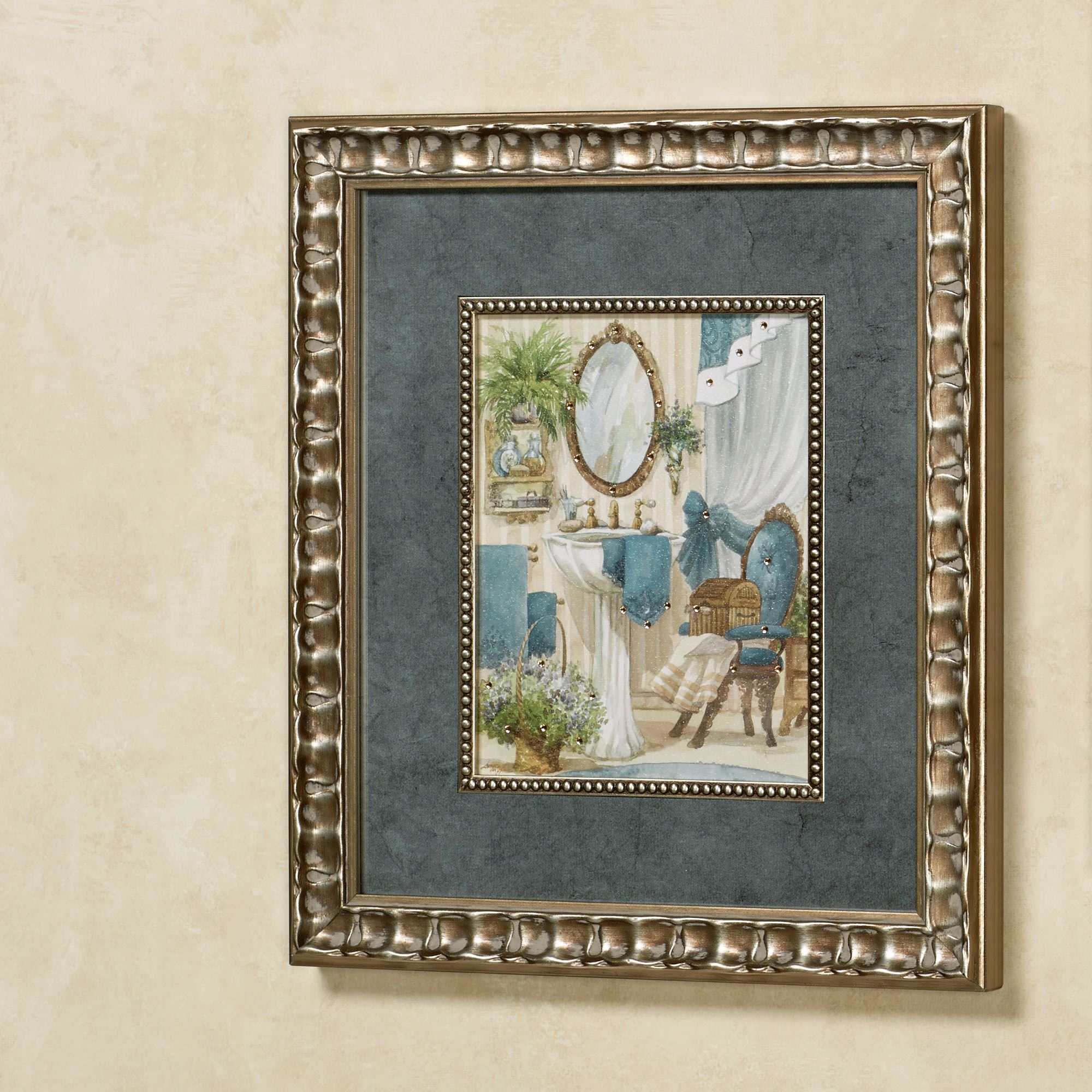 Victorian Bath I Framed Wall Art Multi Cool