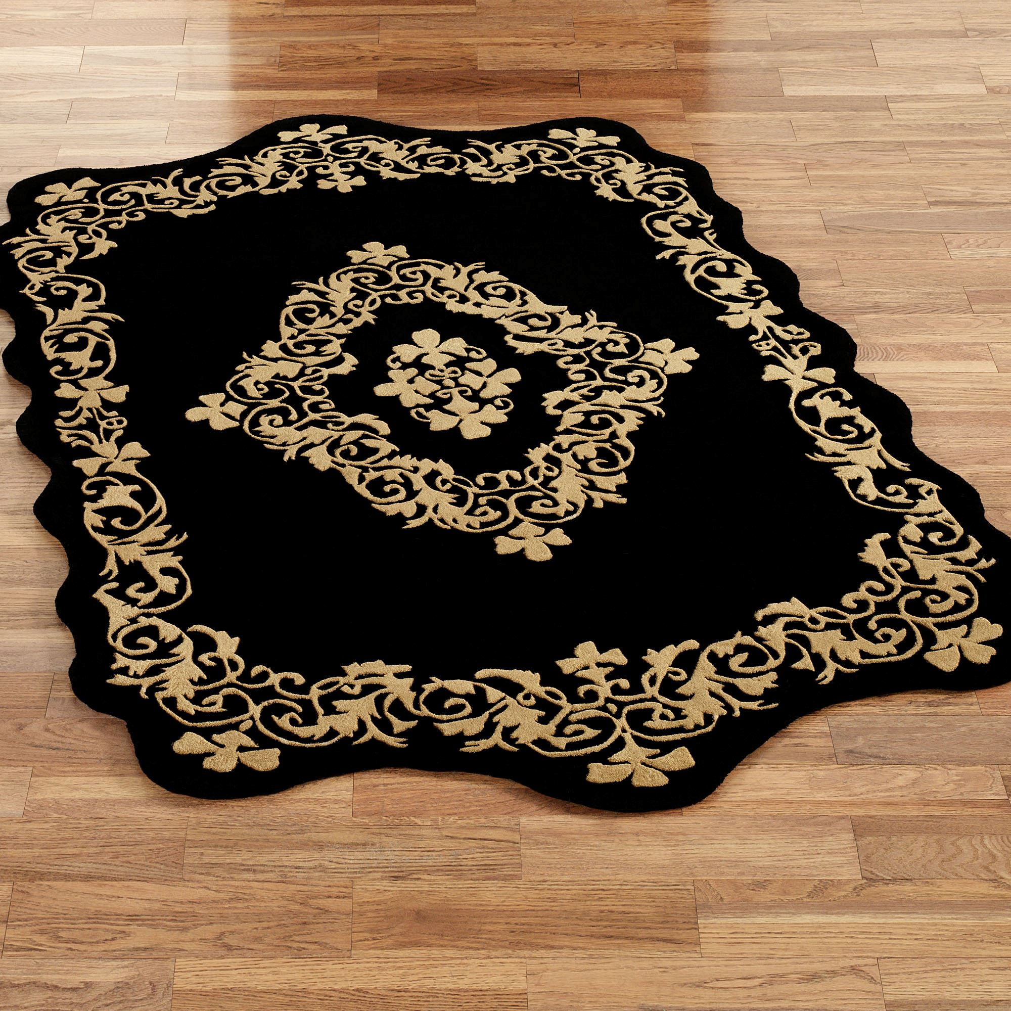 area rugs gold wild print leopard rectangle p and hooked rug black