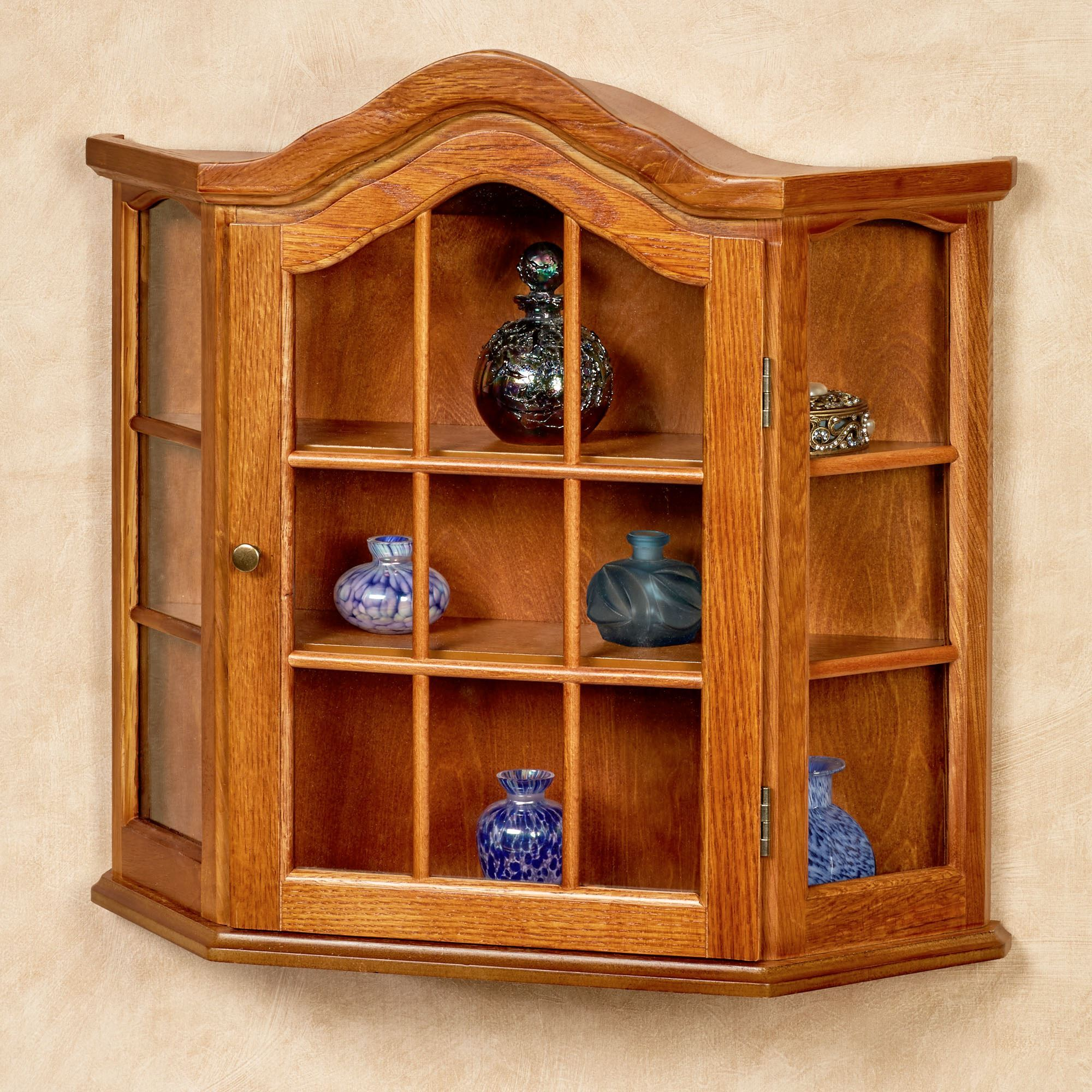 Andre wooden wall curio cabinet