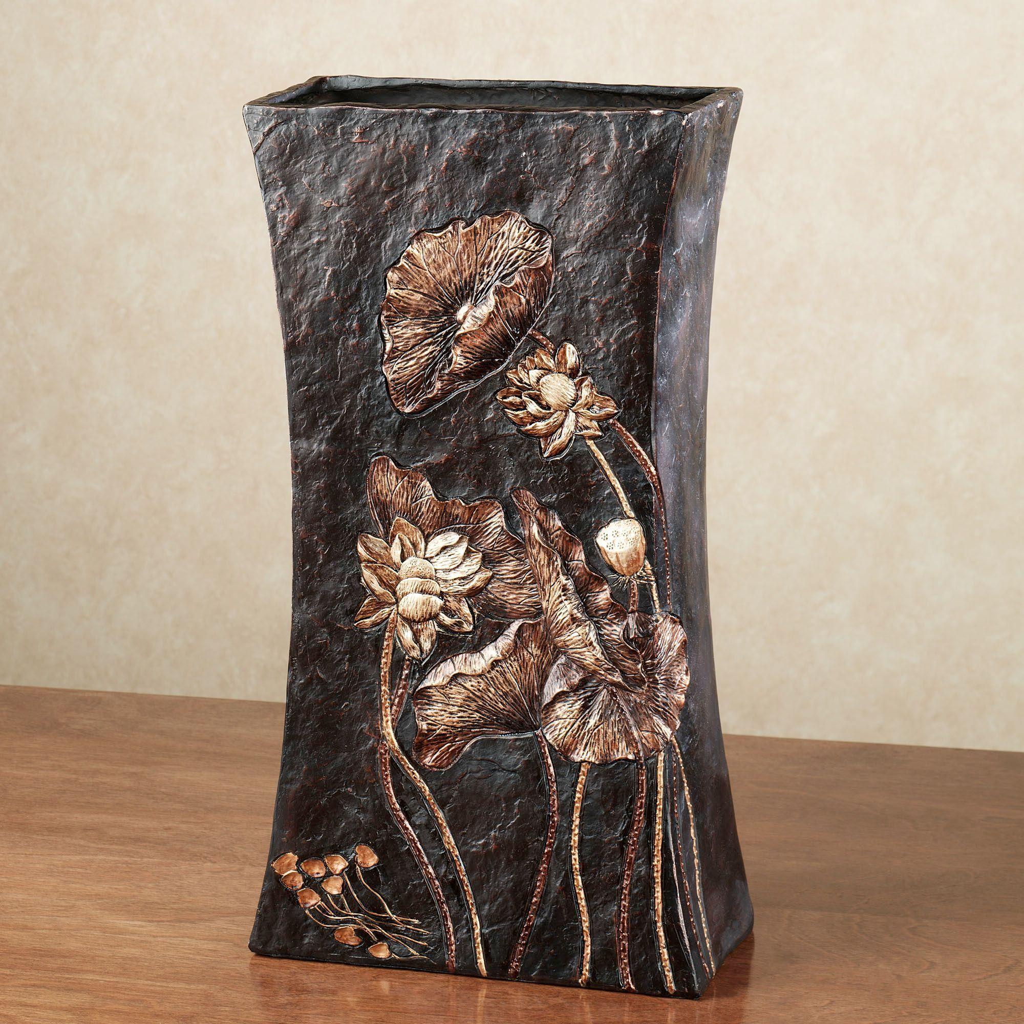 Deep Woods Textured Decorative Table Vase
