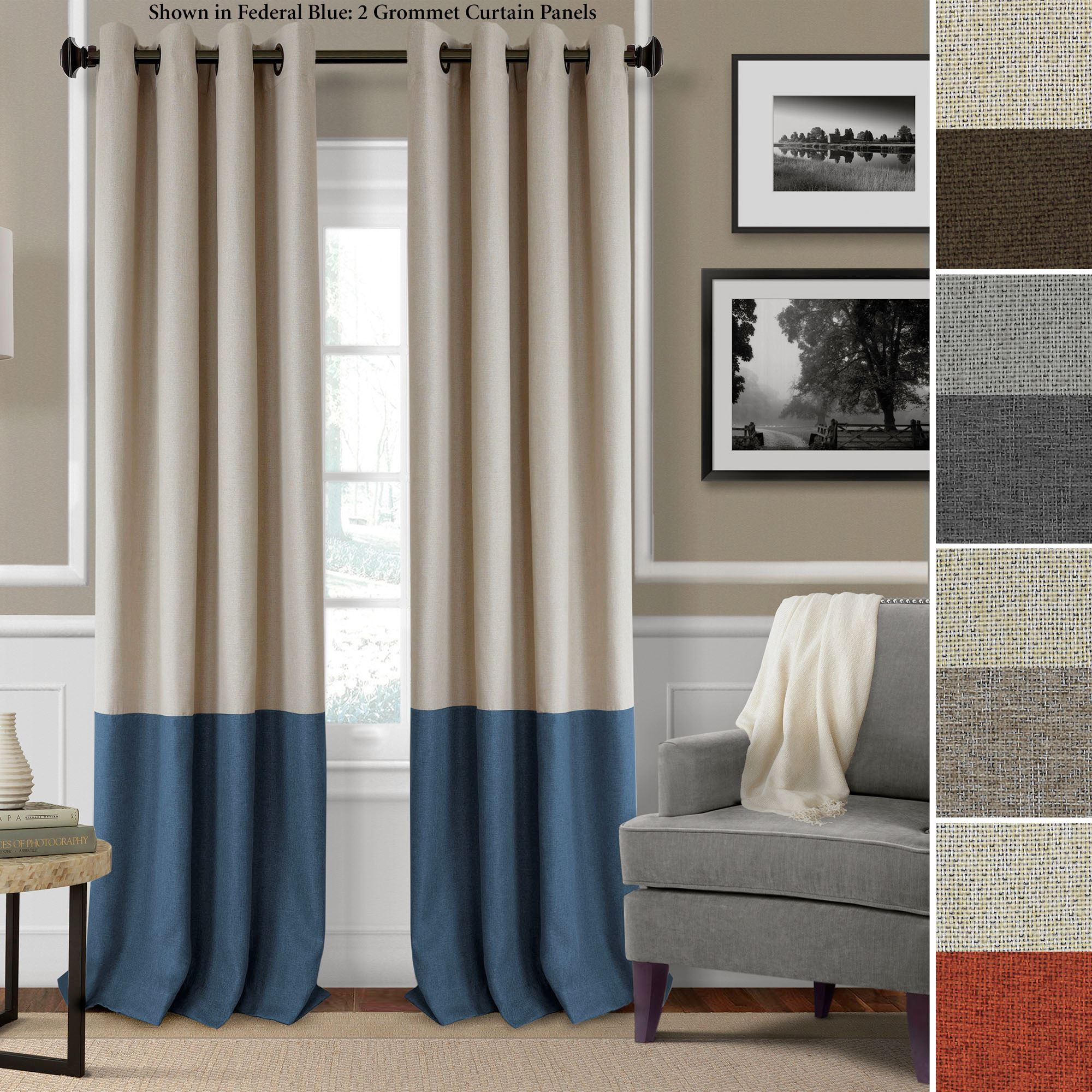 Braiden Room Darkening Grommet Curtain Panels
