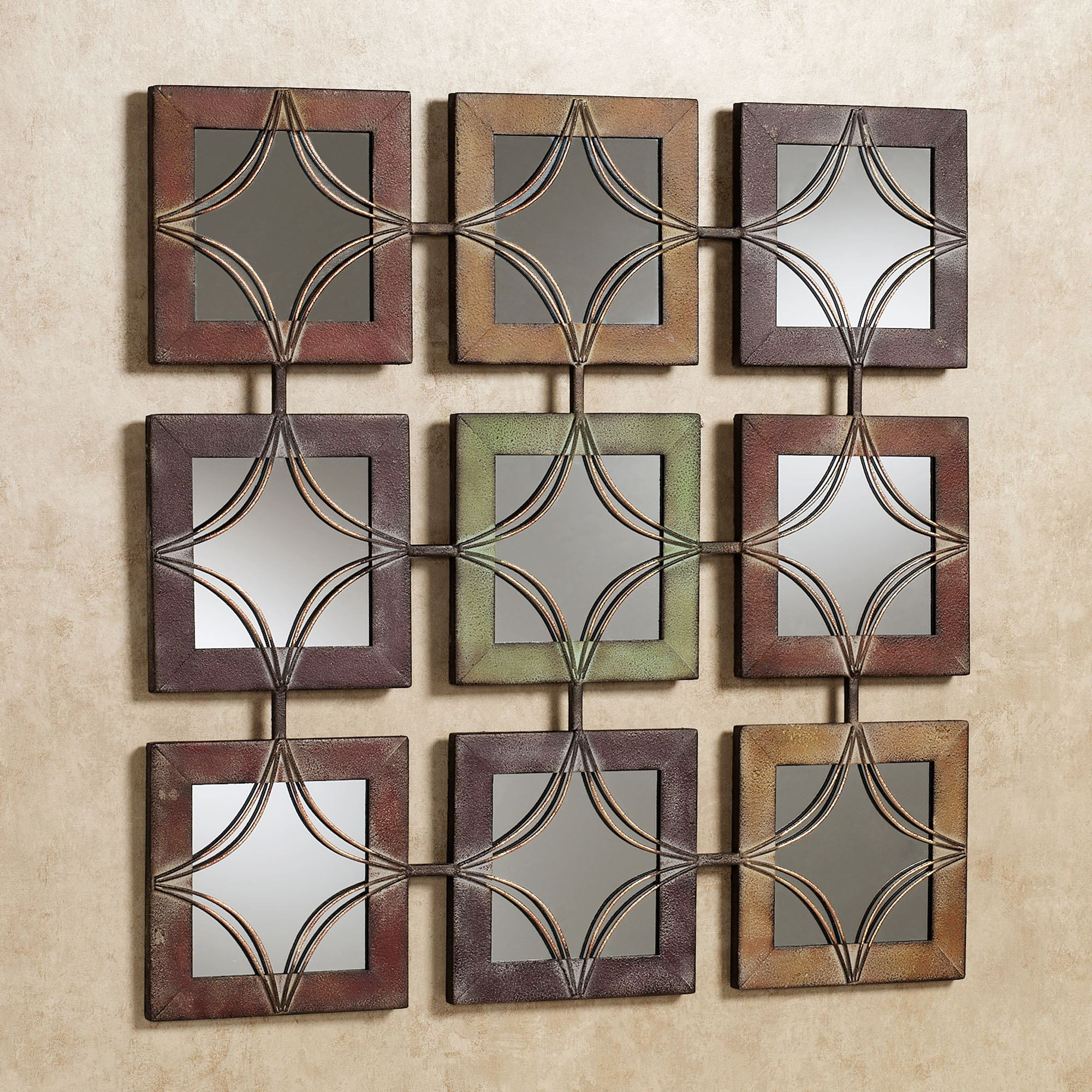 Wall Art And Decor Domini Mirrored Metal Wall Art