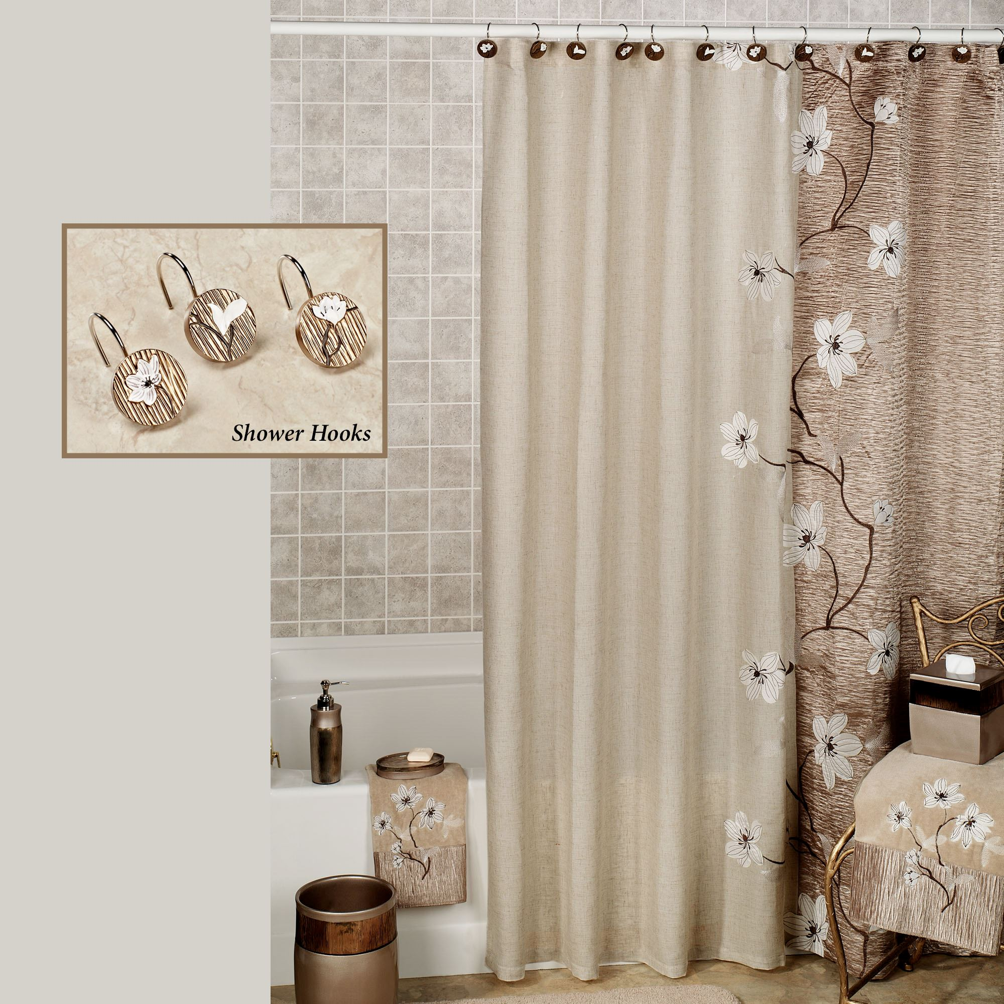 Magnolia Shower Curtain Bronze 70 X 72
