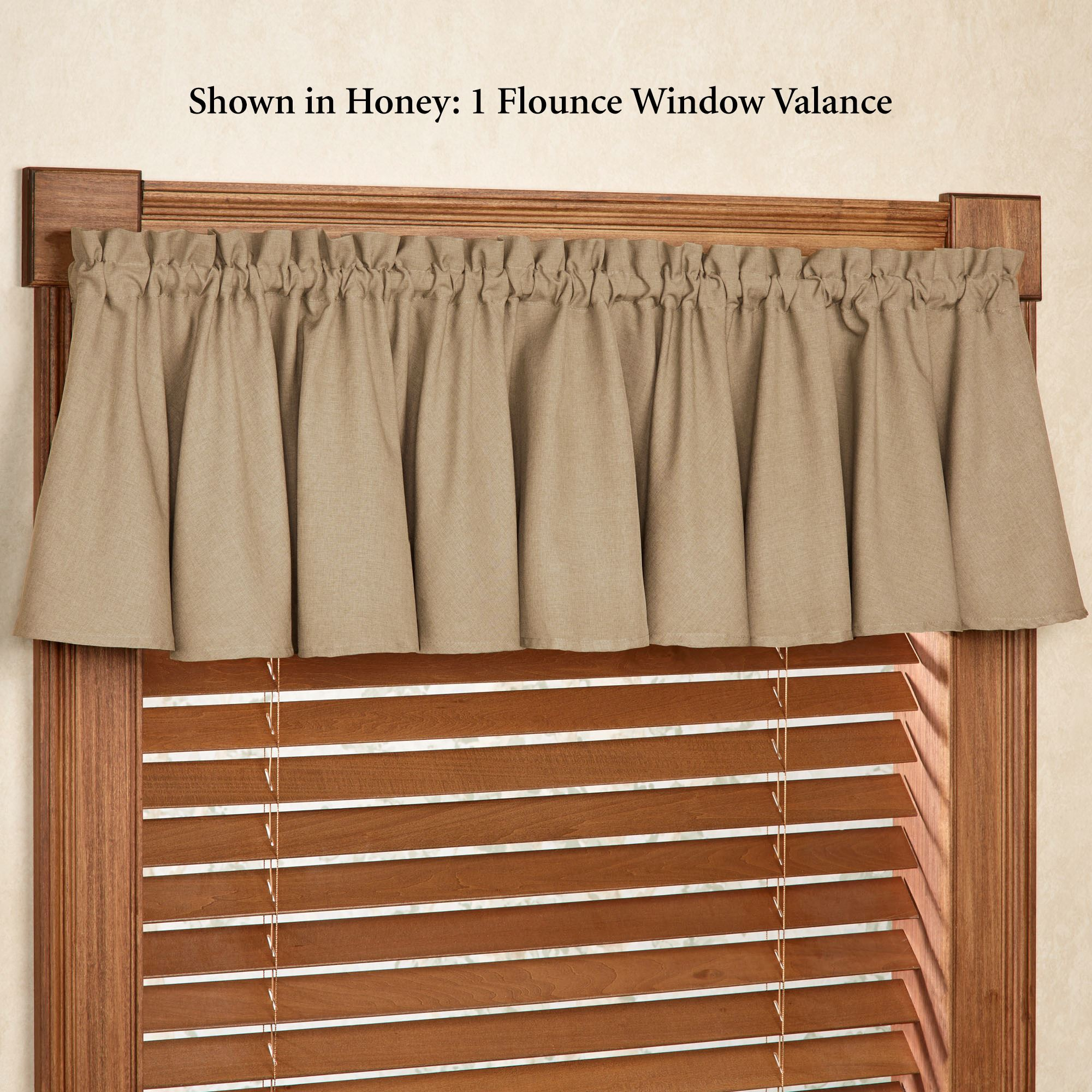 Glasgow Solid Color Flounce Window Valance