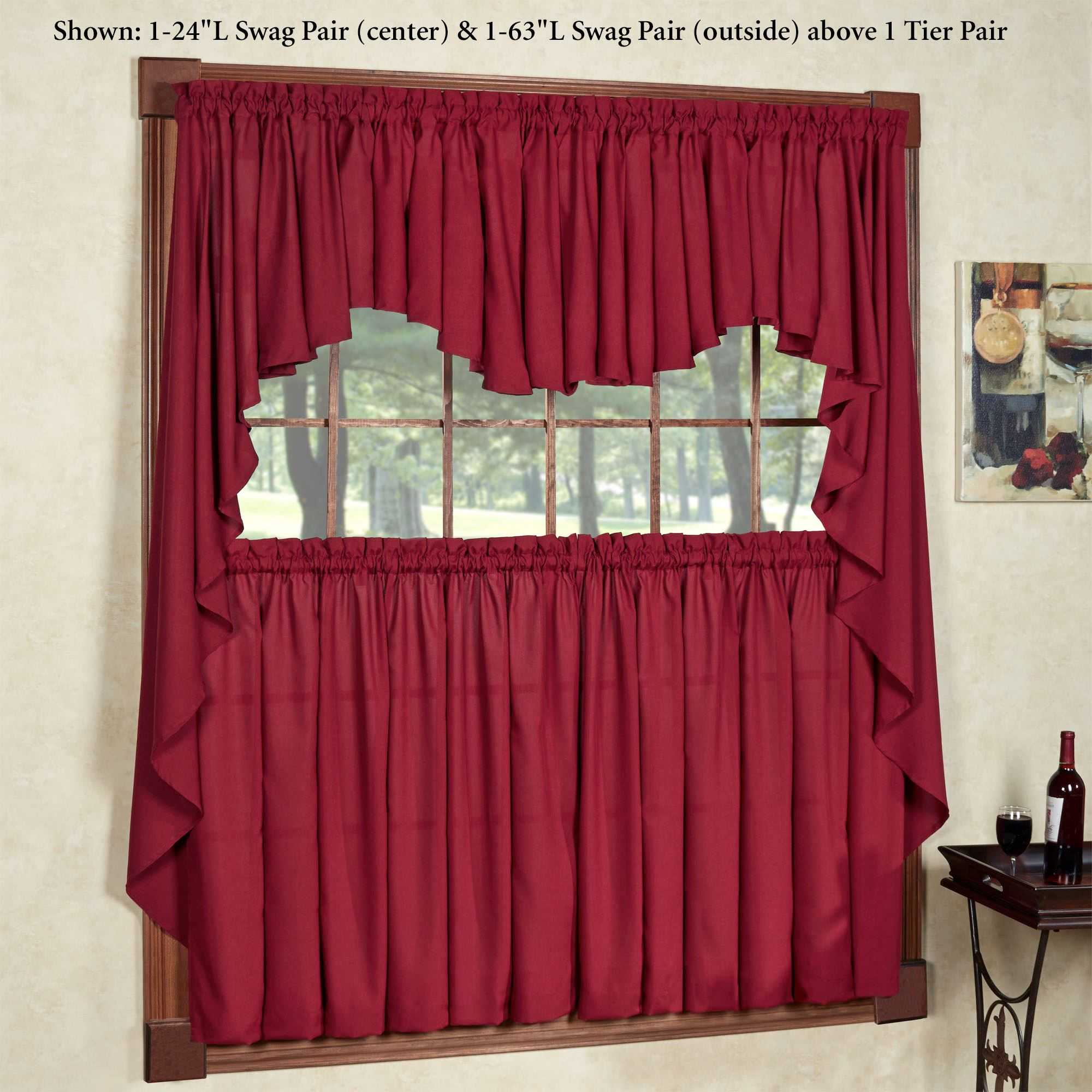 Glasgow Rod Pocket Valance Window Treatment